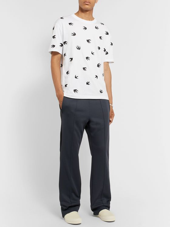 McQ Alexander McQueen Slim-Fit Embroidered Cotton-Jersey T-Shirt