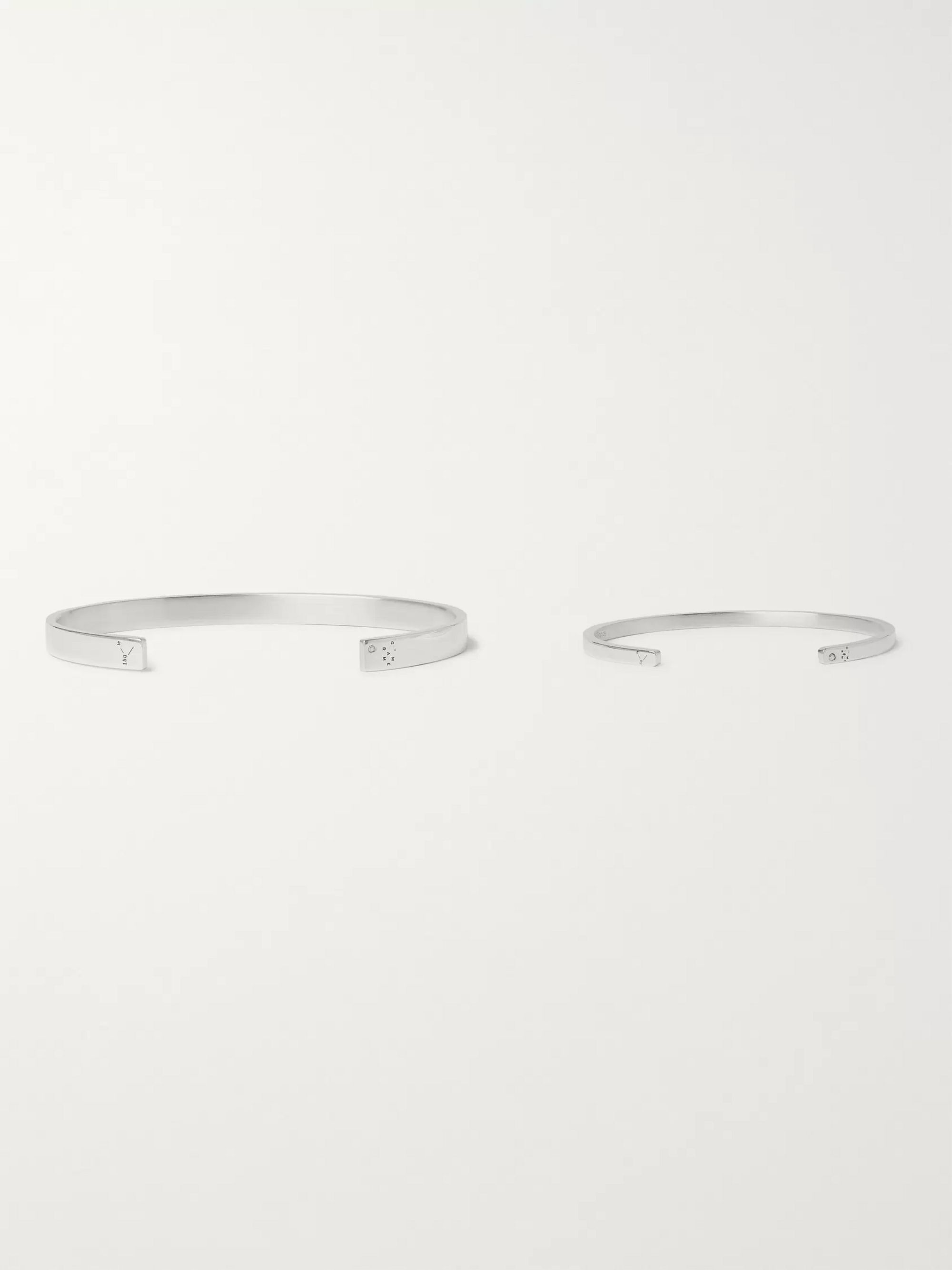 Le Gramme Father and Child Polished Sterling Silver Cuff Set