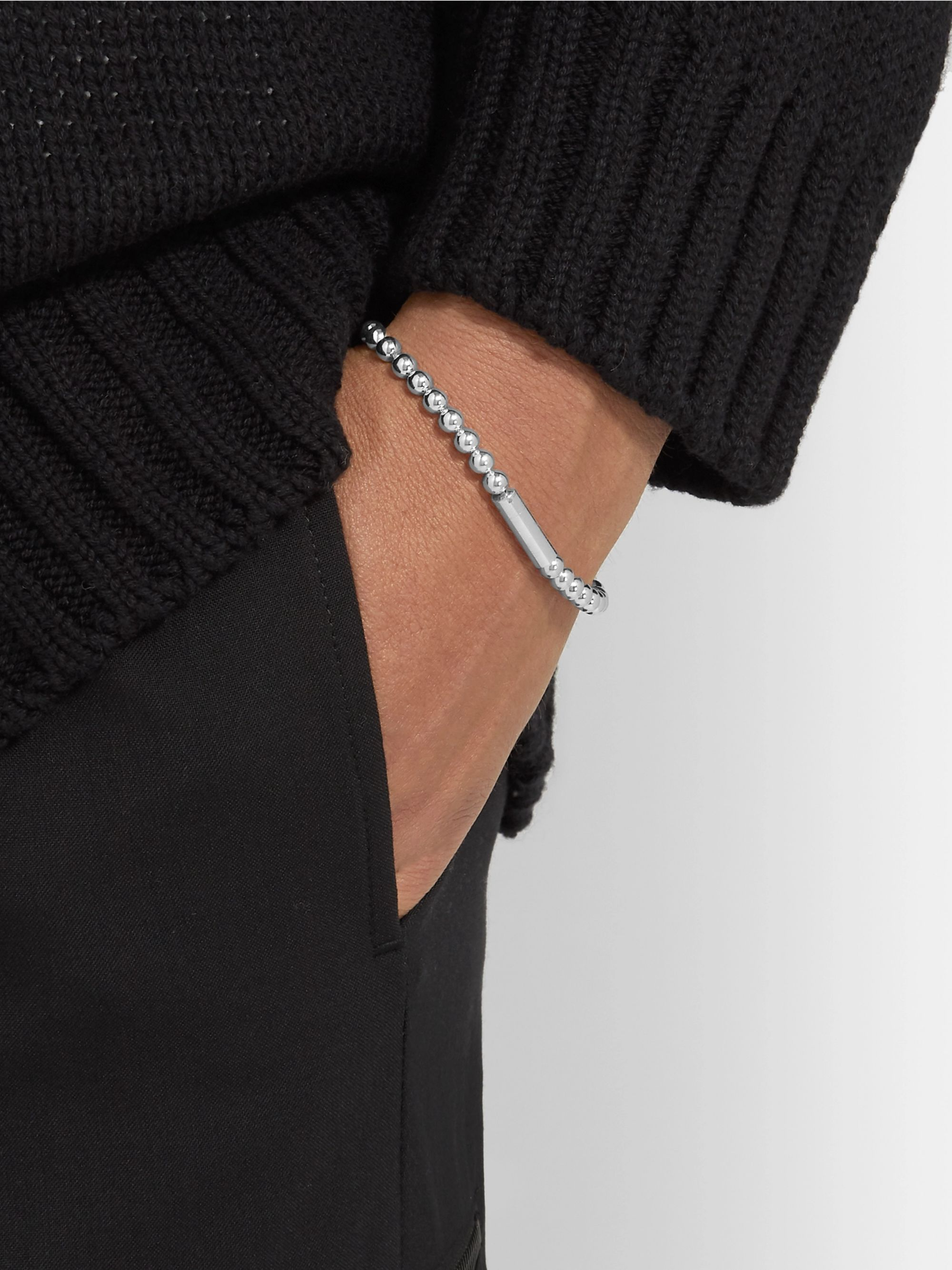 Le Gramme Le 25 Beaded Polished Sterling Silver Bracelet