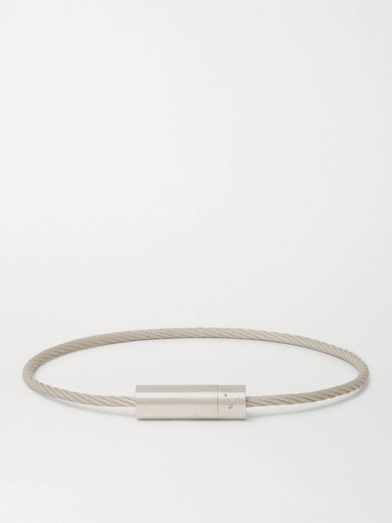 Le Gramme Le Câble 7 Brushed Sterling Silver Bracelet