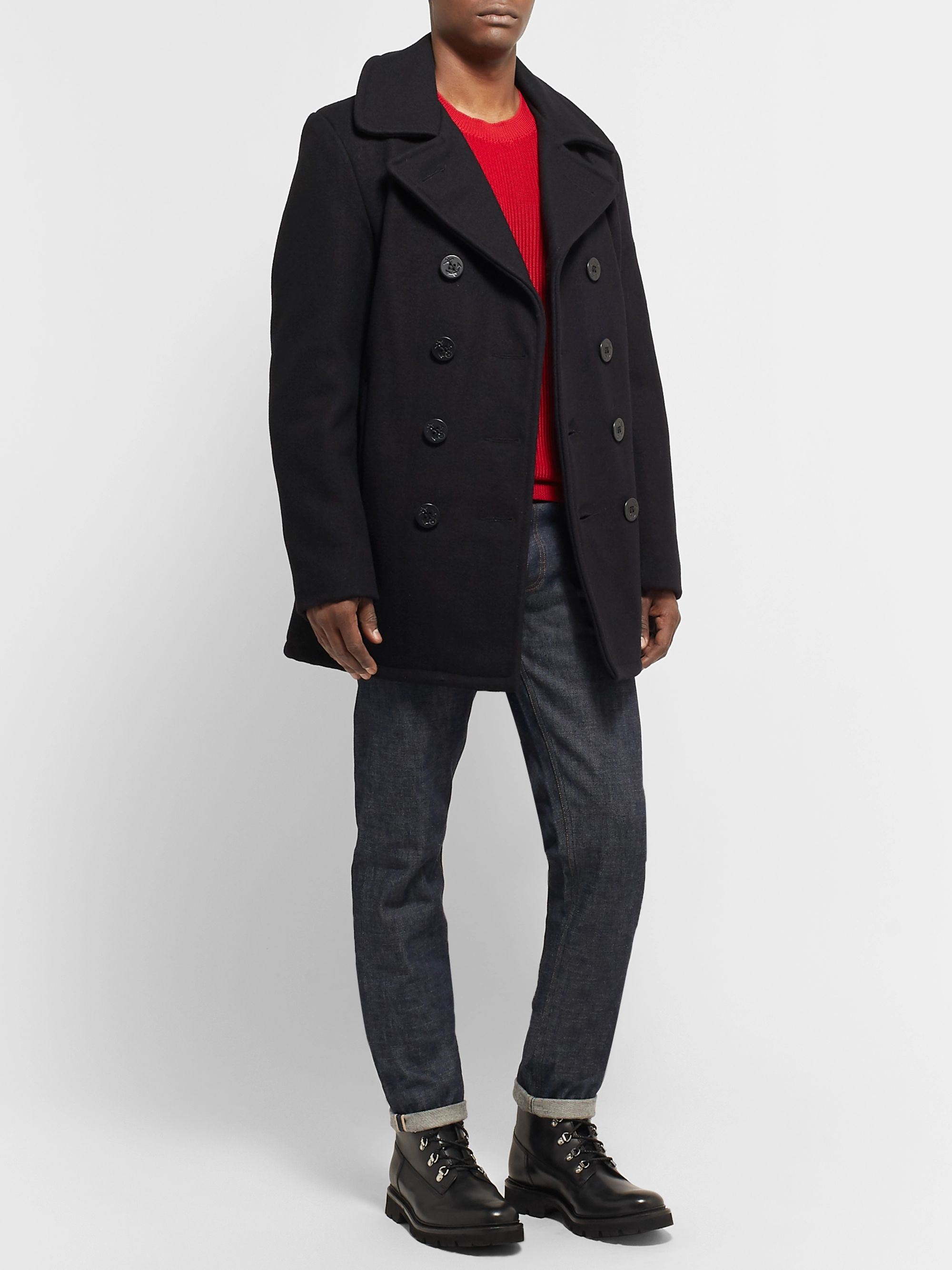 Discover hot-selling authentic Buy Authentic Melton Wool-Blend Peacoat