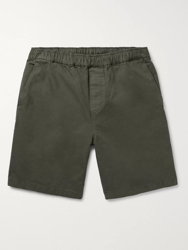 Outerknown Paz Slim-Fit Organic Cotton-Twill Shorts