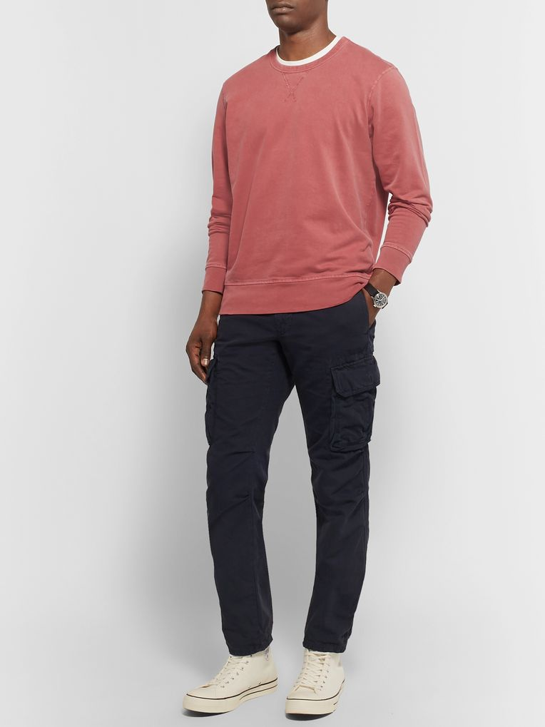 Outerknown Stowaway Garment-Dyed Fleece-Back Supima Cotton-Jersey Sweatshirt