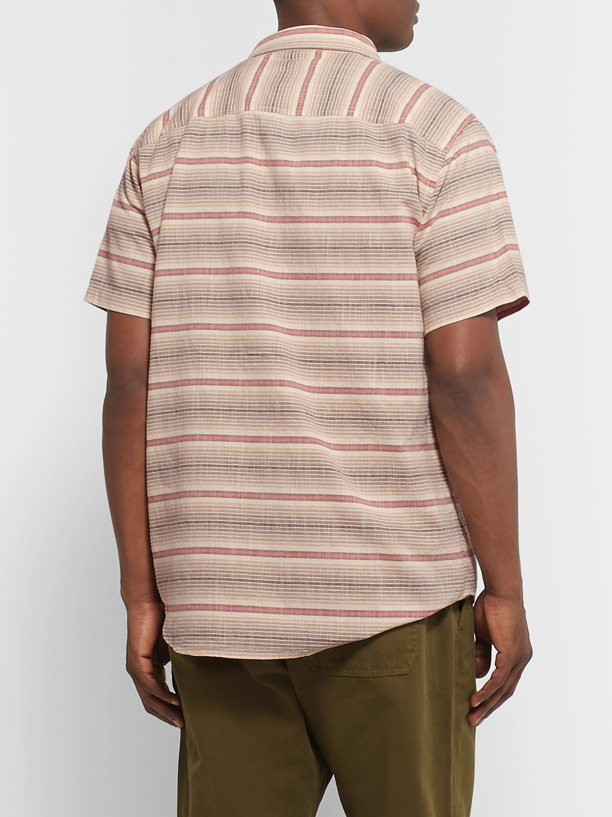 Outerknown S.E.A Striped Organic Cotton Shirt