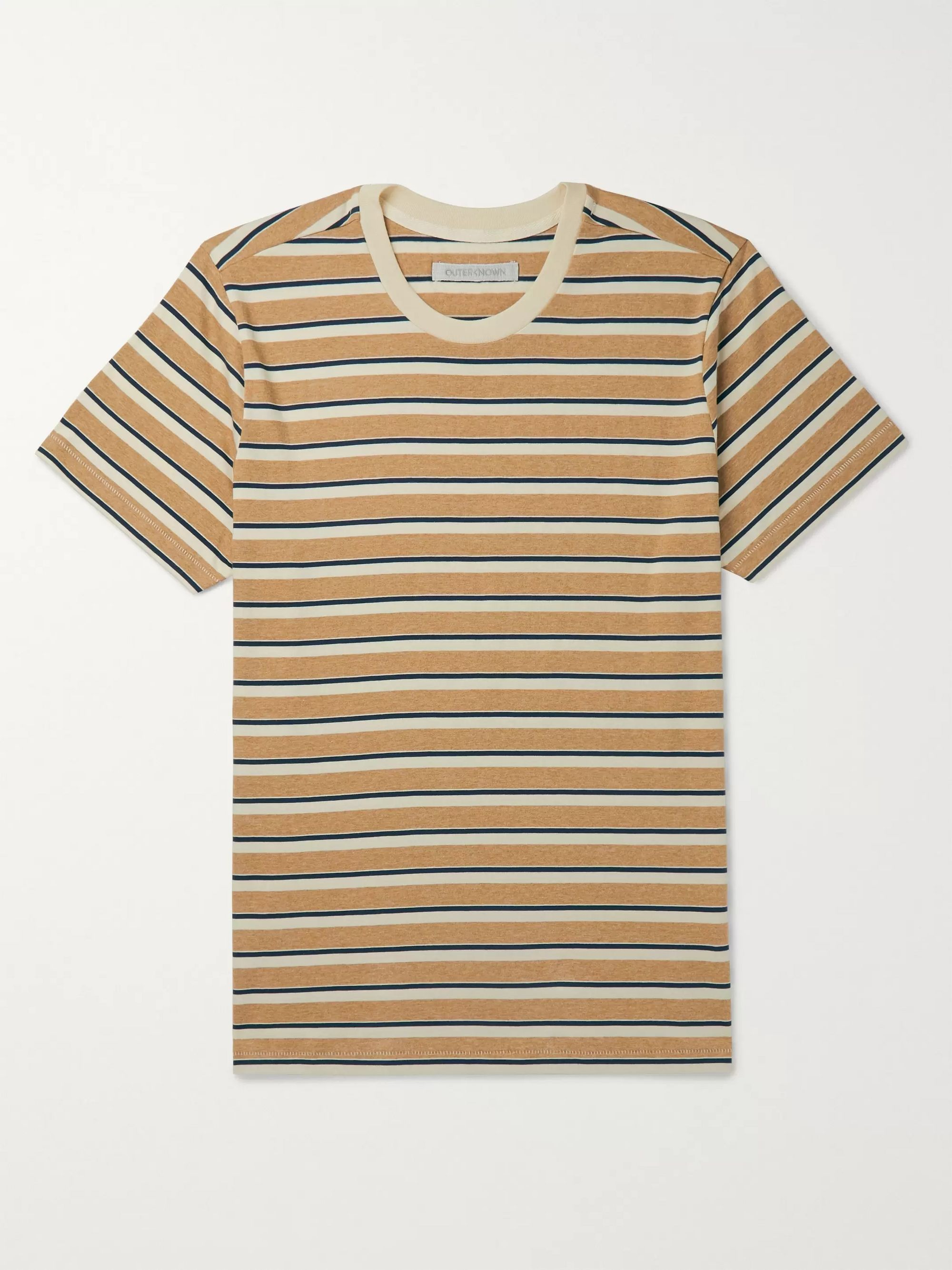 Outerknown Striped Organic Pima Cotton-Jersey T-Shirt