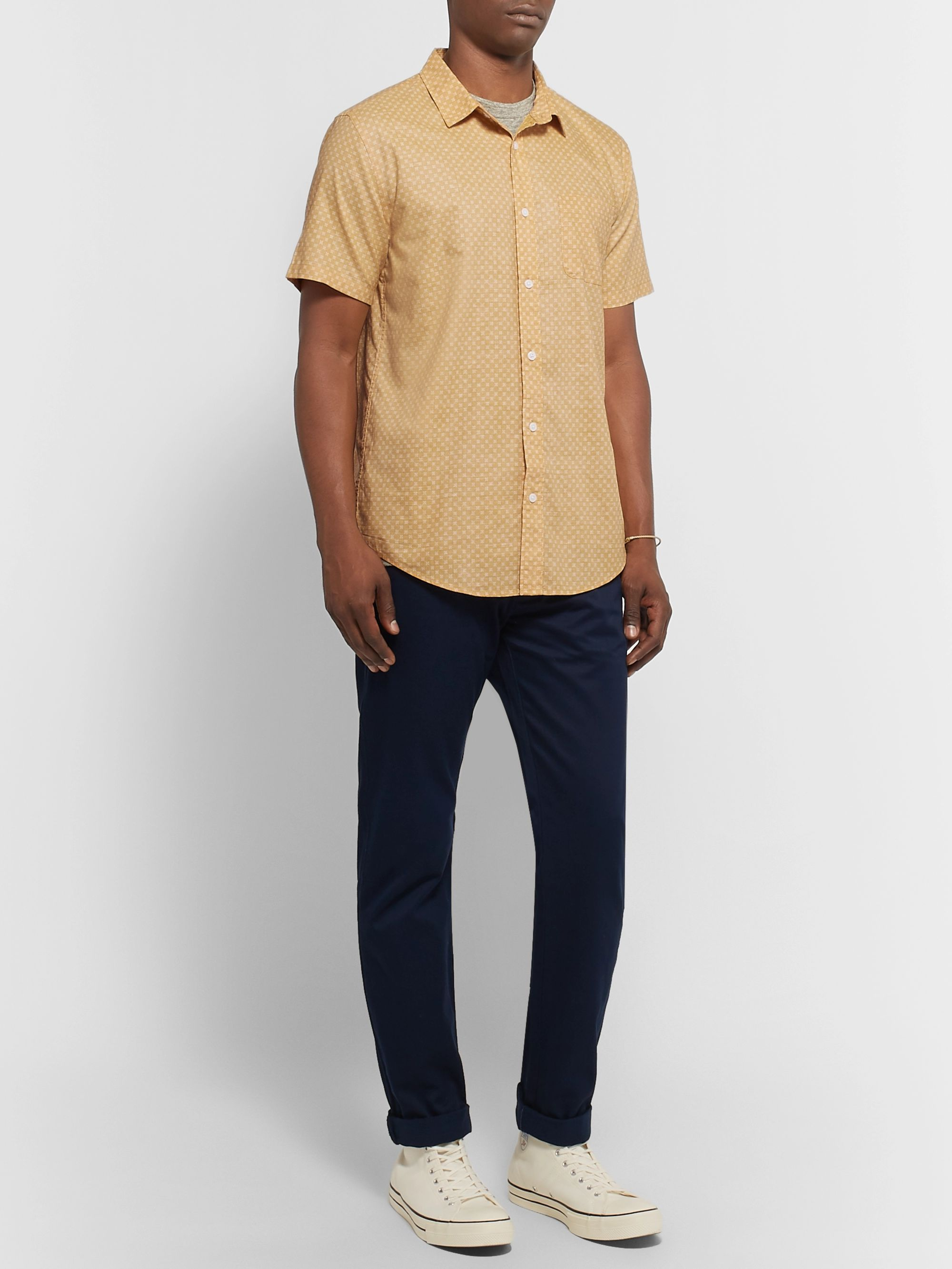 Outerknown S.E.A. Printed Organic Cotton and Hemp-Blend Shirt