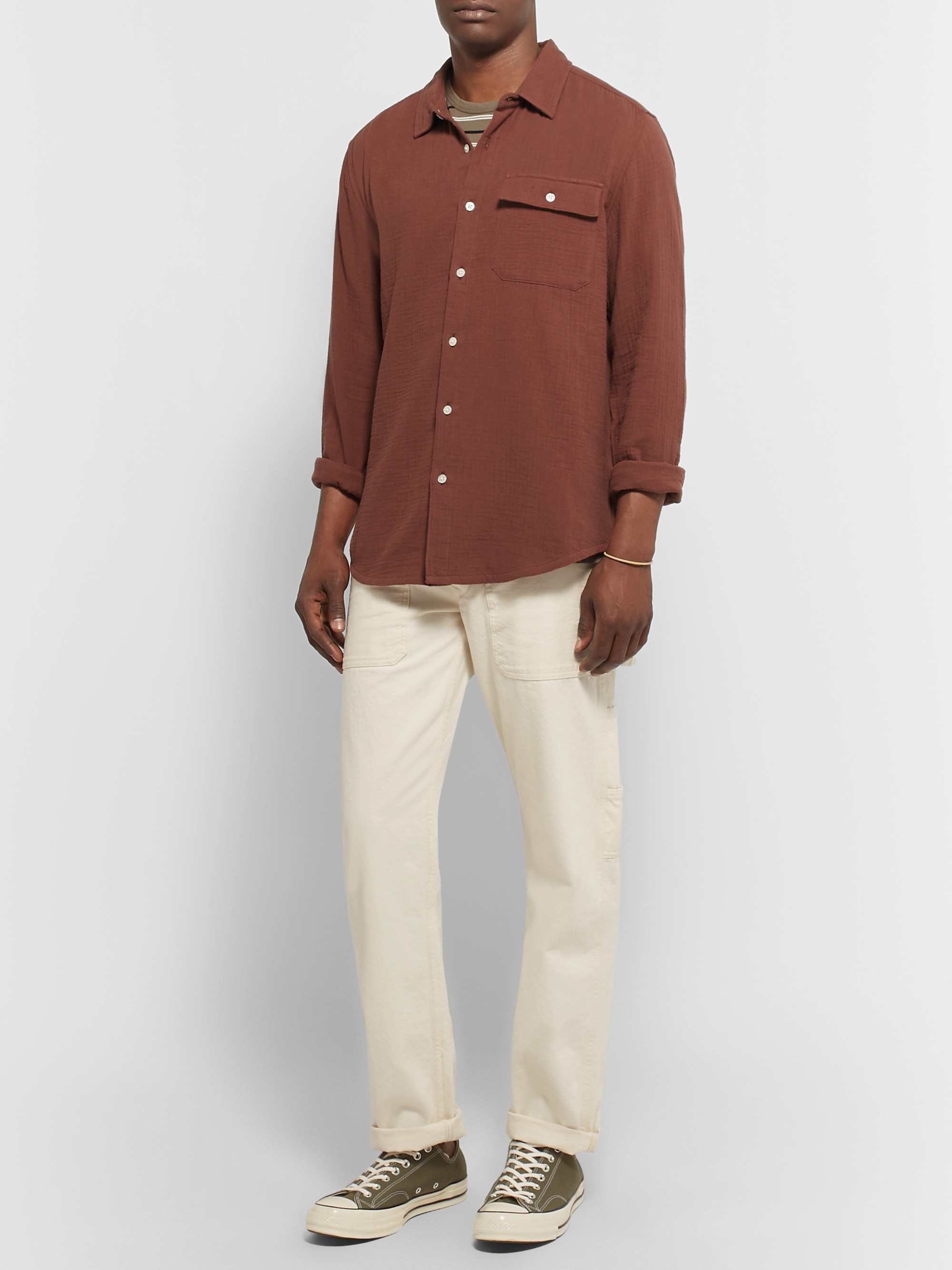 Outerknown Ocotillo Textured Organic Cotton Shirt