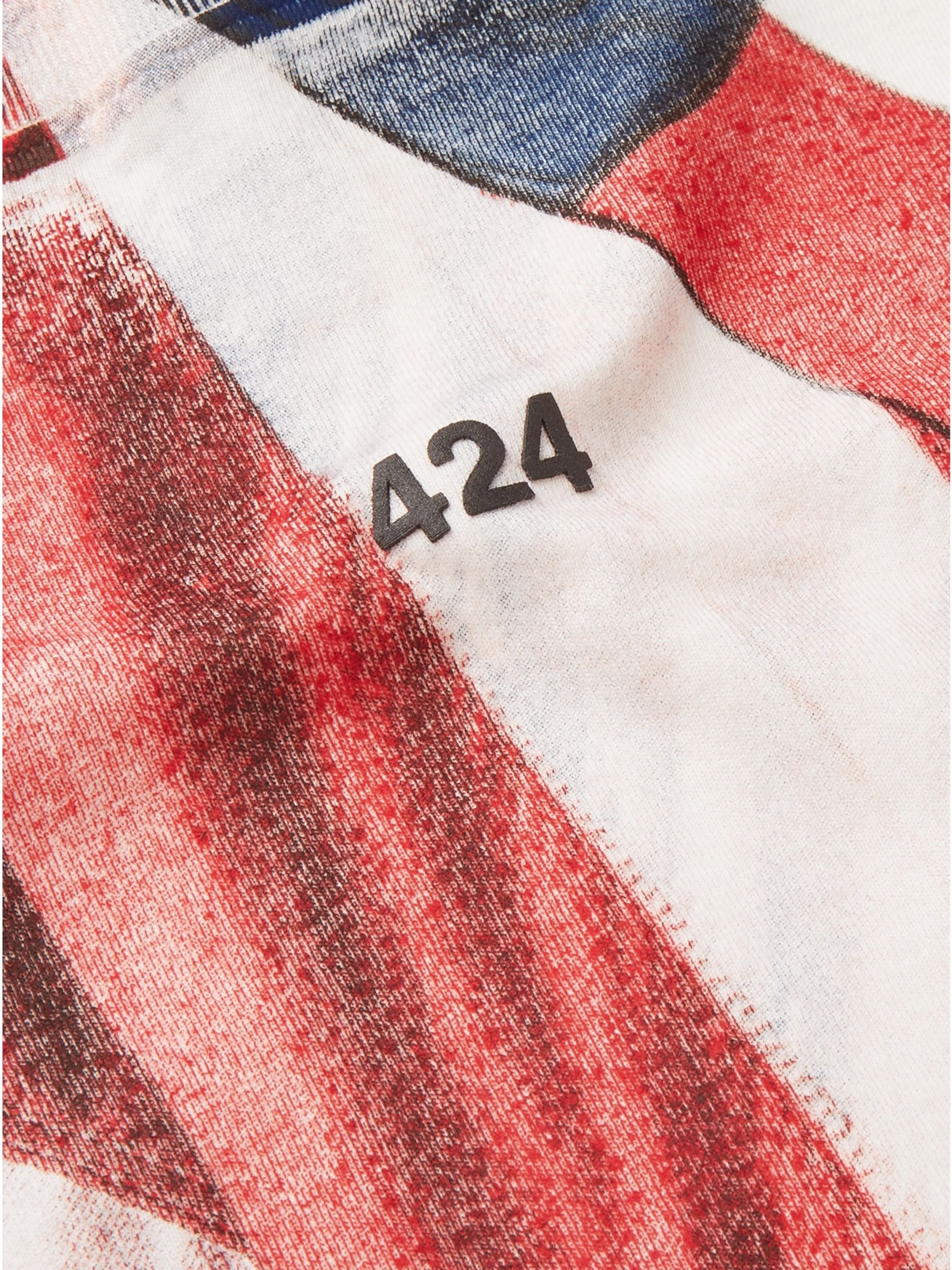 424 Printed Cotton-Jersey T-Shirt