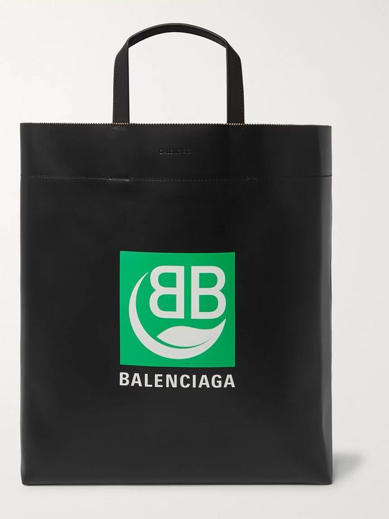 Balenciaga Market Printed Leather Tote Bag