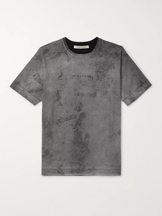 1017 ALYX 9SM Logo and Camouflage-Print Cotton-Jersey T-Shirt