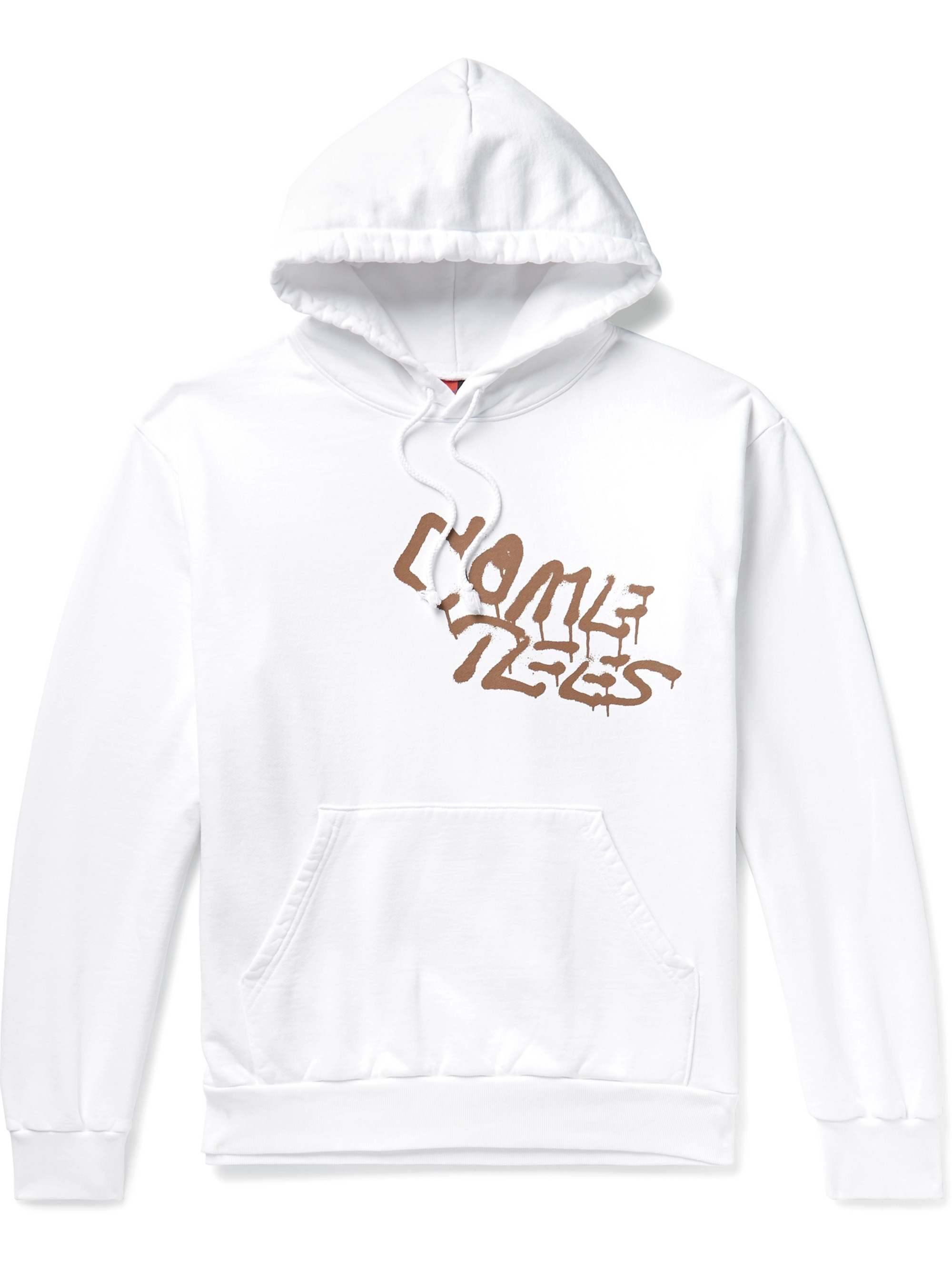 COME TEES Logo-Print Loopback Cotton-Jersey Hoodie