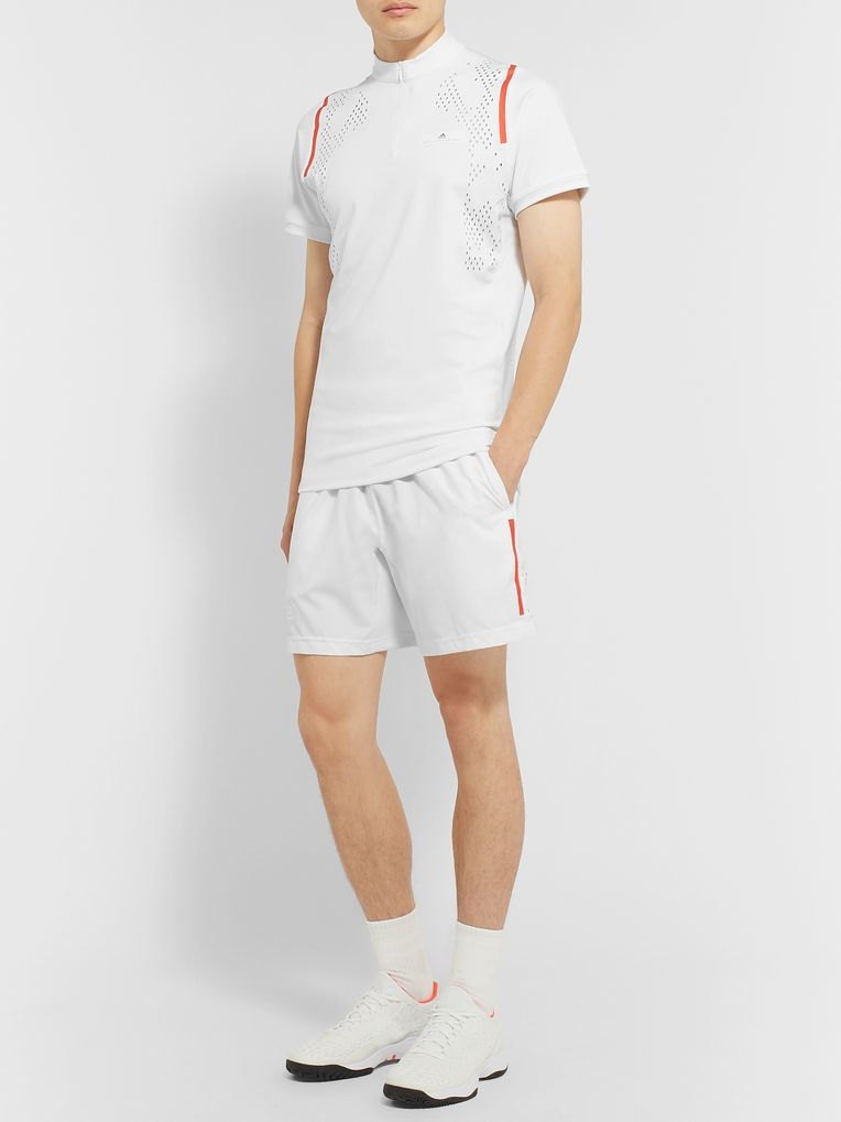 Adidas Sport + Stella McCartney Free-Lift Slim-Fit Stretch-Jersey Tennis T-Shirt