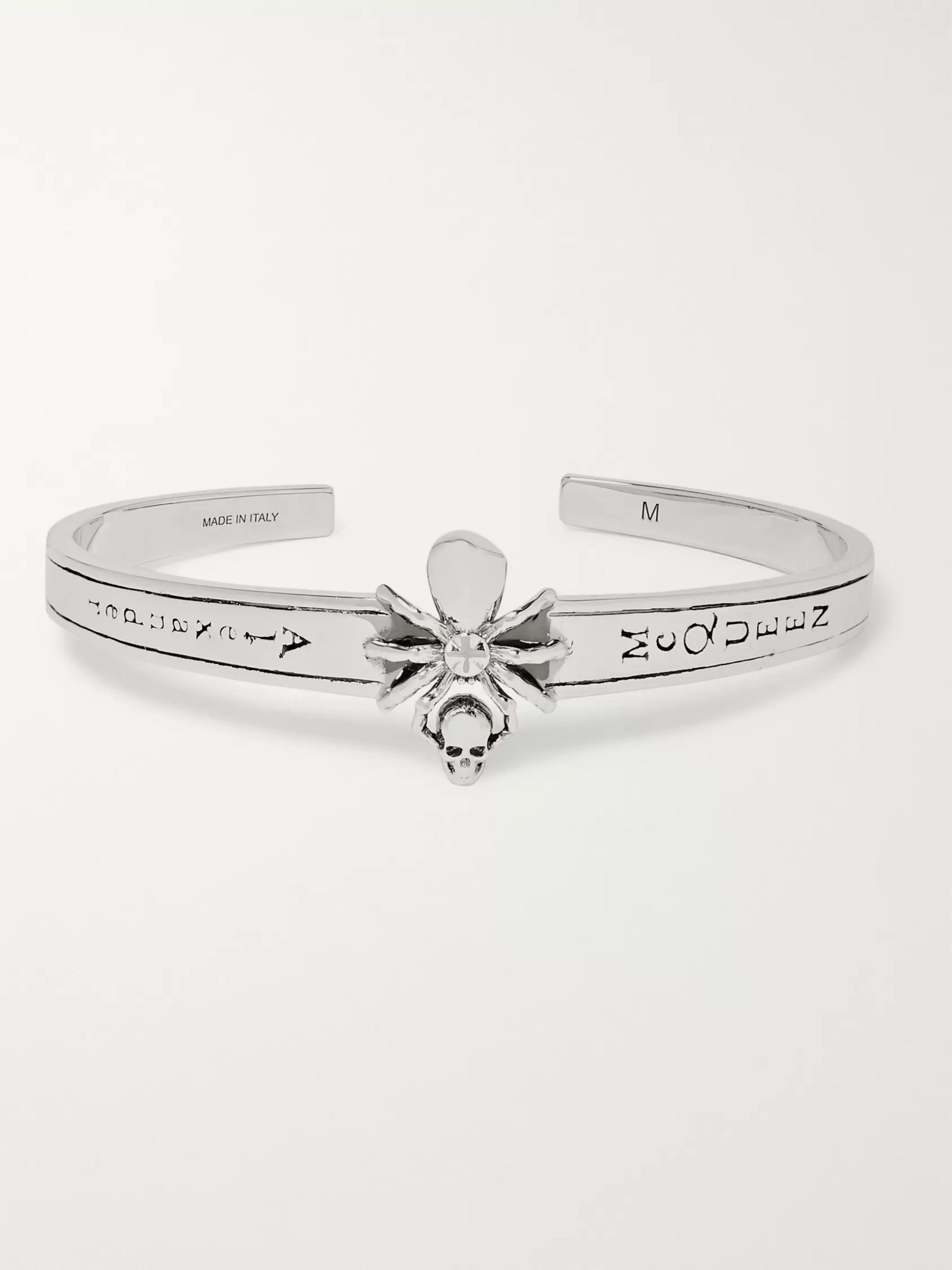 Alexander McQueen Spider Polished Silver-Tone Cuff