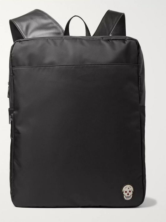Alexander McQueen Harness Leather-Trimmed Nylon Backpack