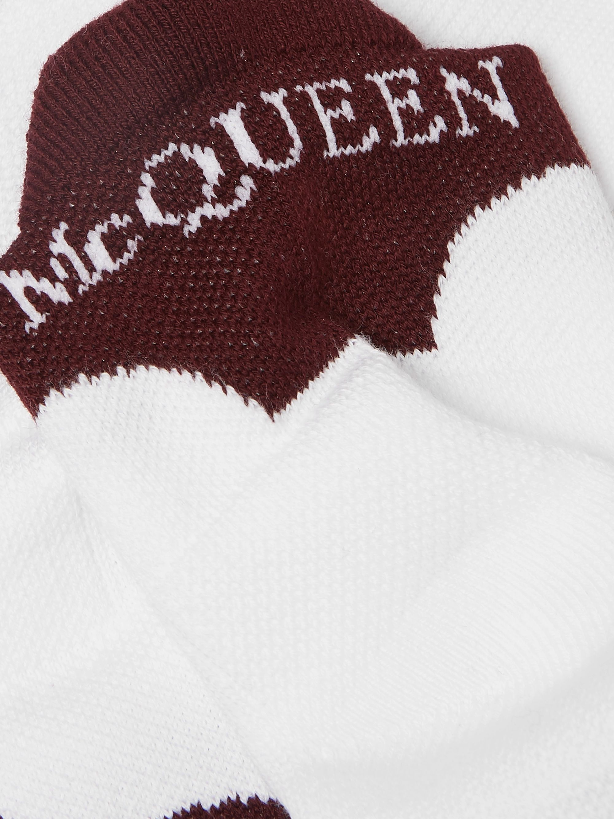 Alexander McQueen Logo-Intarsia Stretch Cotton-Blend No-Show Socks