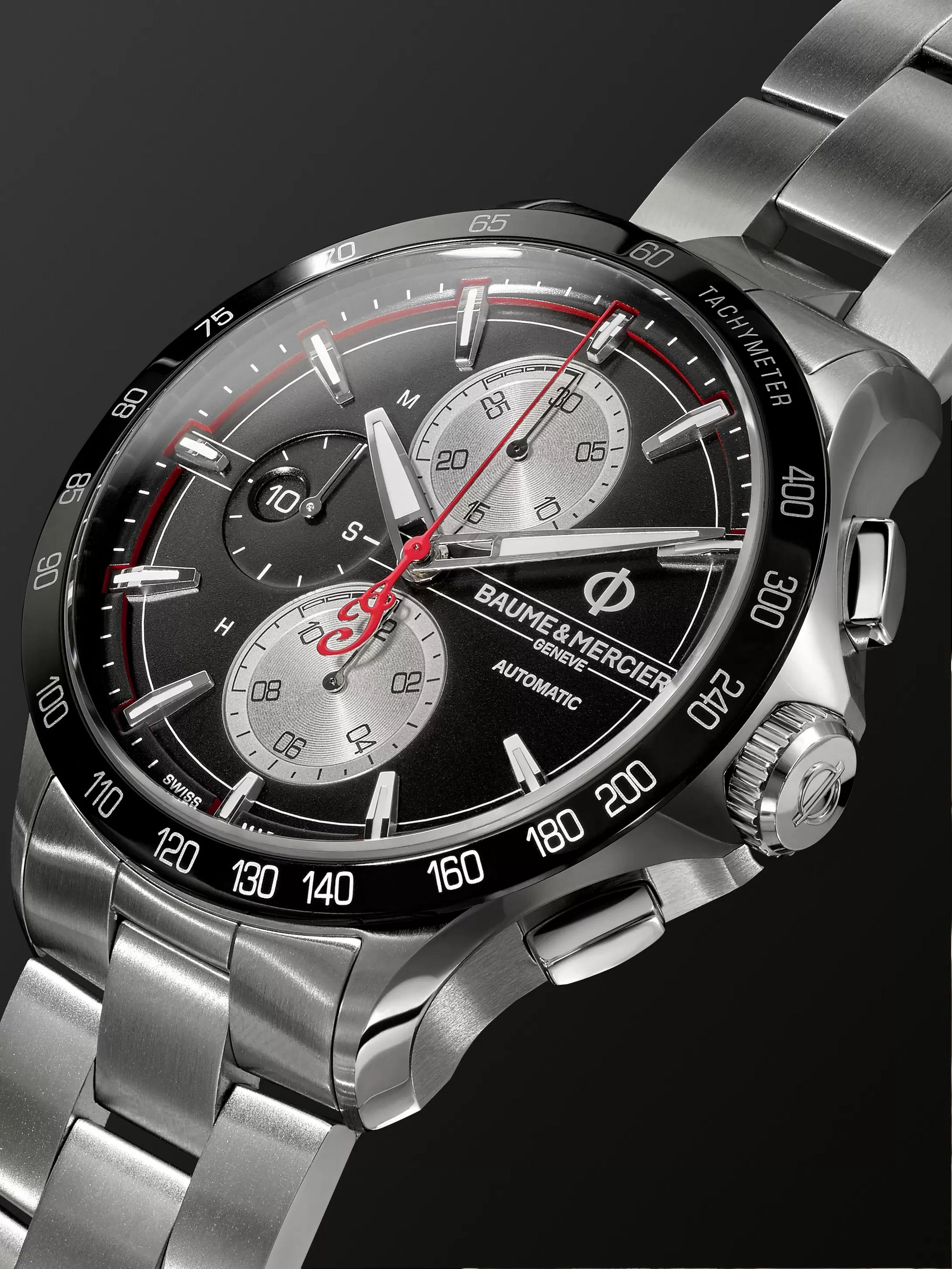 Baume & Mercier Clifton Club Indian Legend Tribute Chief Chronograph 44mm Stainless Steel Watch, Ref. No. M0A10403