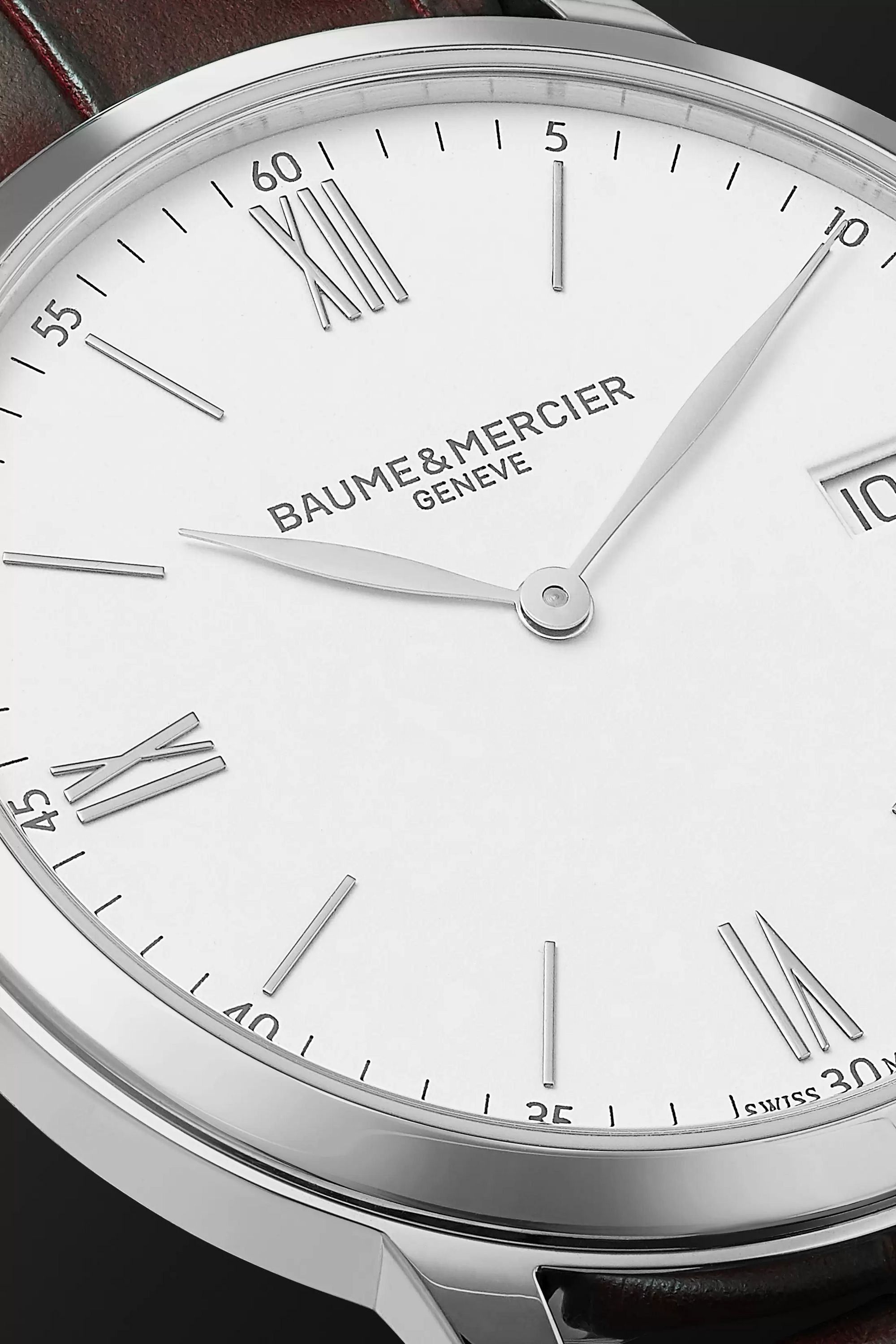 Baume & Mercier Classima 40mm Steel and Croc-Effect Leather Watch, Ref. No. M0A10508