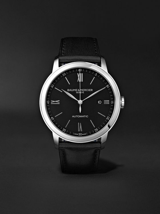 Baume & Mercier Classima Automatic 42mm Stainless Steel and Leather Watch, Ref. No. M0A10453