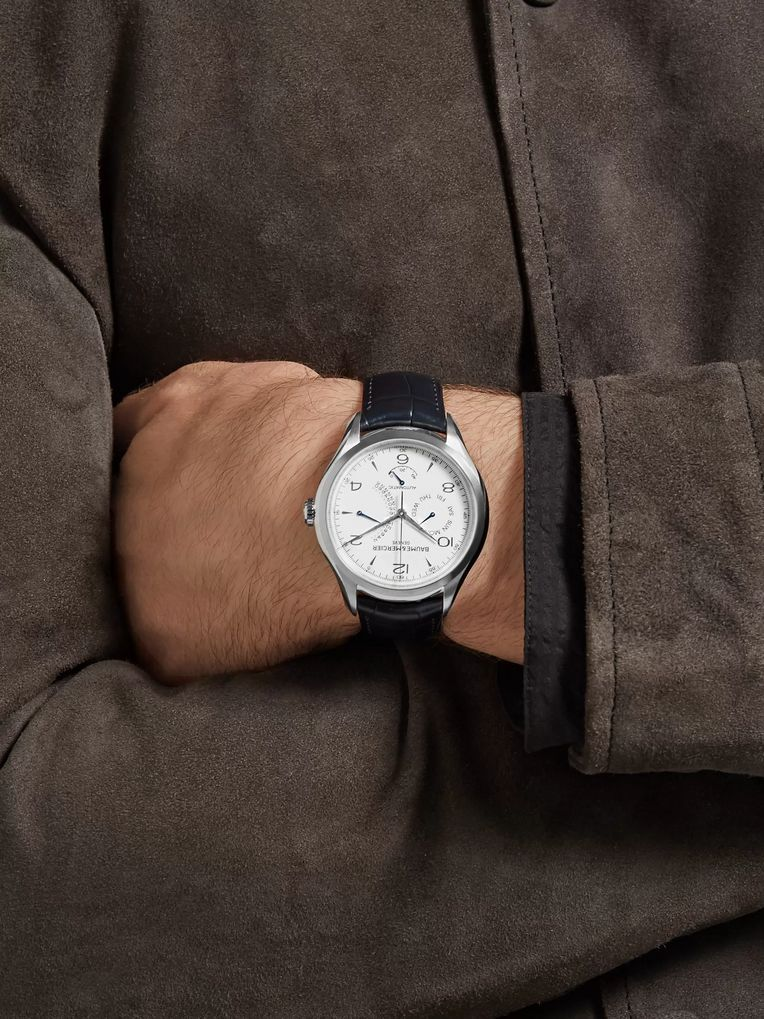 Baume & Mercier Clifton Automatic 43mm Stainless Steel and Alligator Watch
