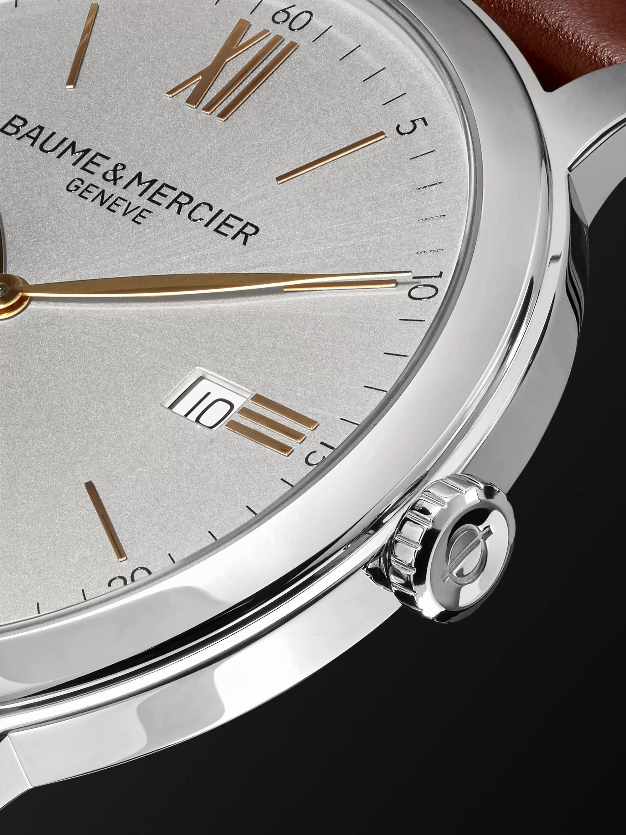 Baume & Mercier Classima Quartz 42mm Stainless Steel and Croc-Effect Leather Watch