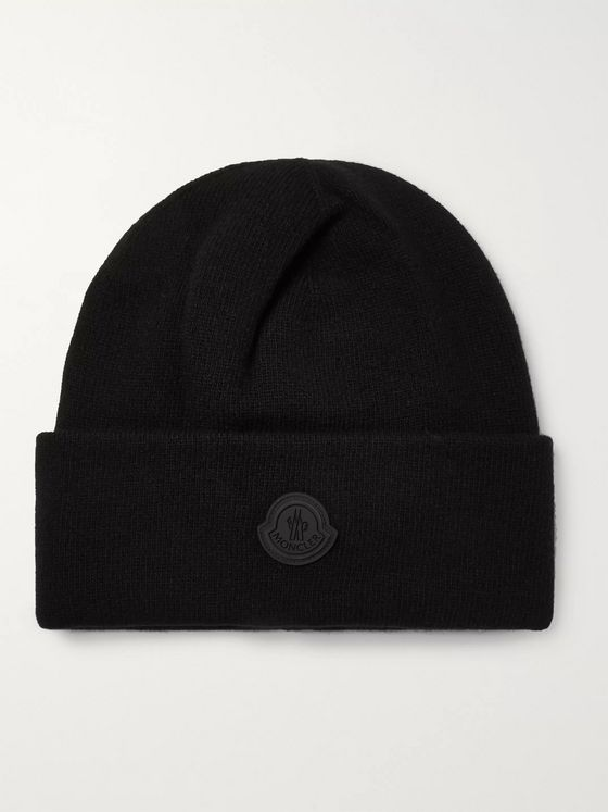 Moncler Logo-Appliquéd Virgin Wool Beanie