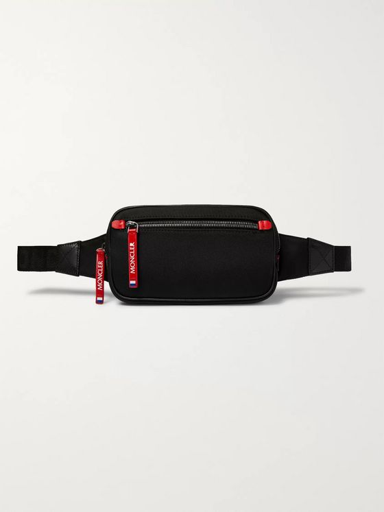 Moncler Aude Leather-Trimmed Drill Belt Bag
