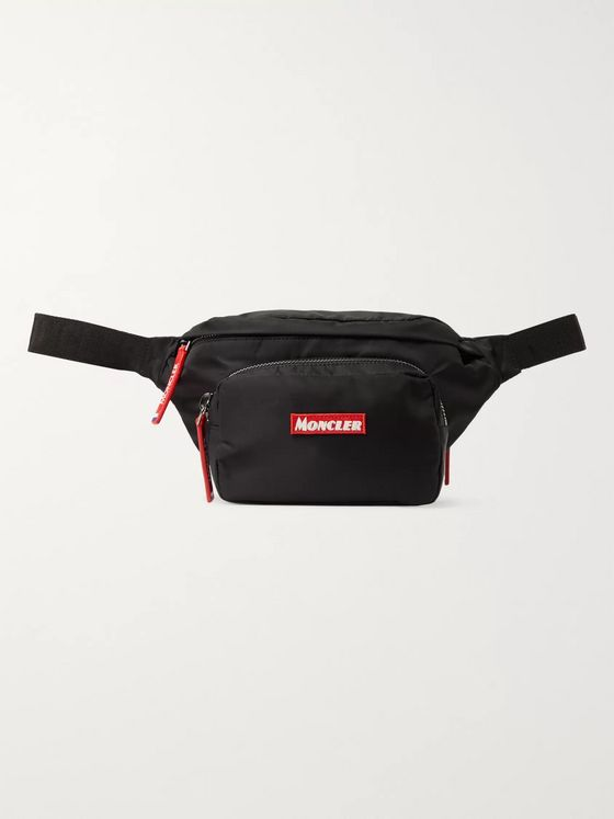 Moncler Durance Logo-Embroidered Nylon-Drill Belt Bag