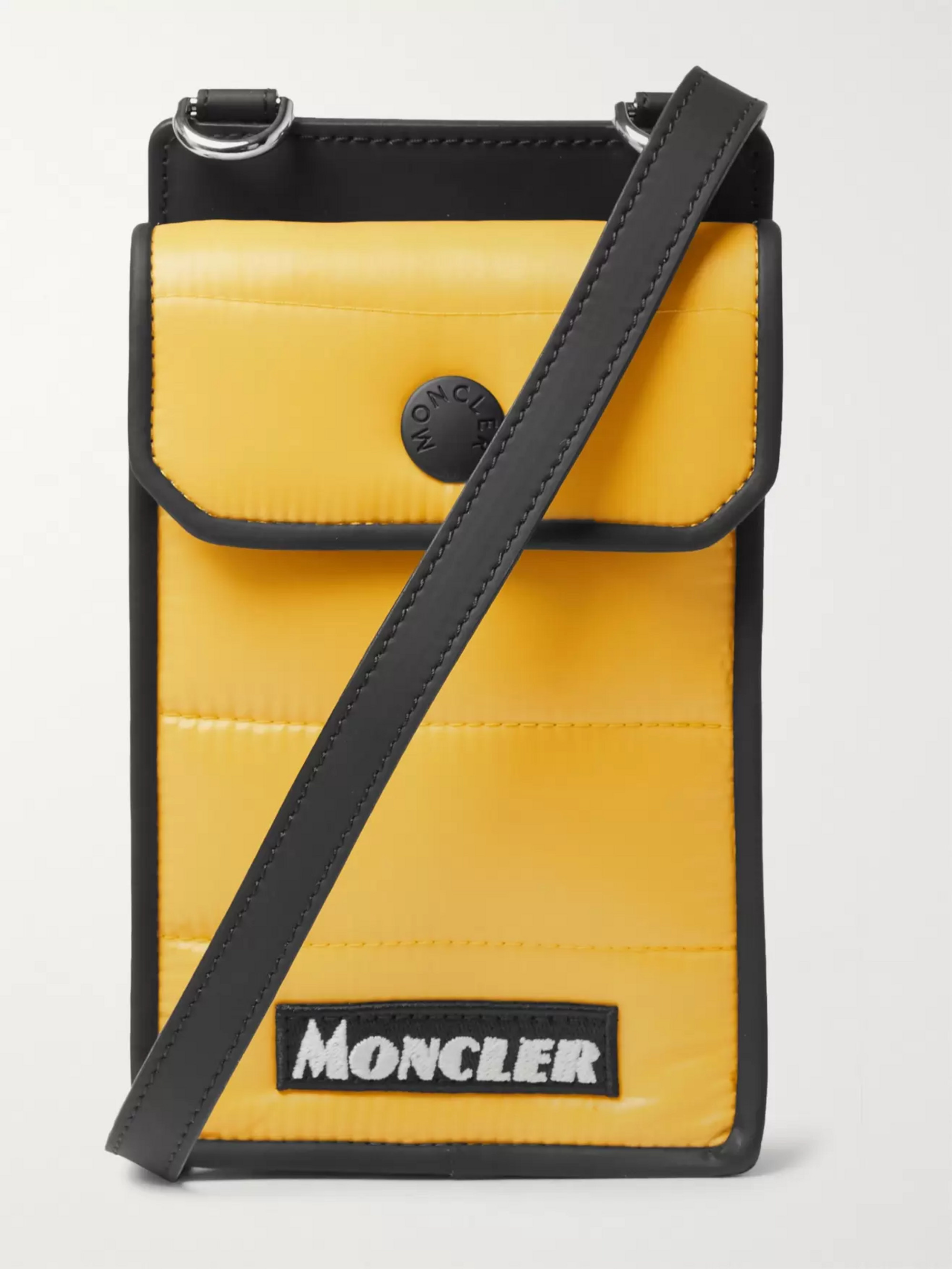 Moncler Mini Quilted Coated-Canvas Messenger Bag