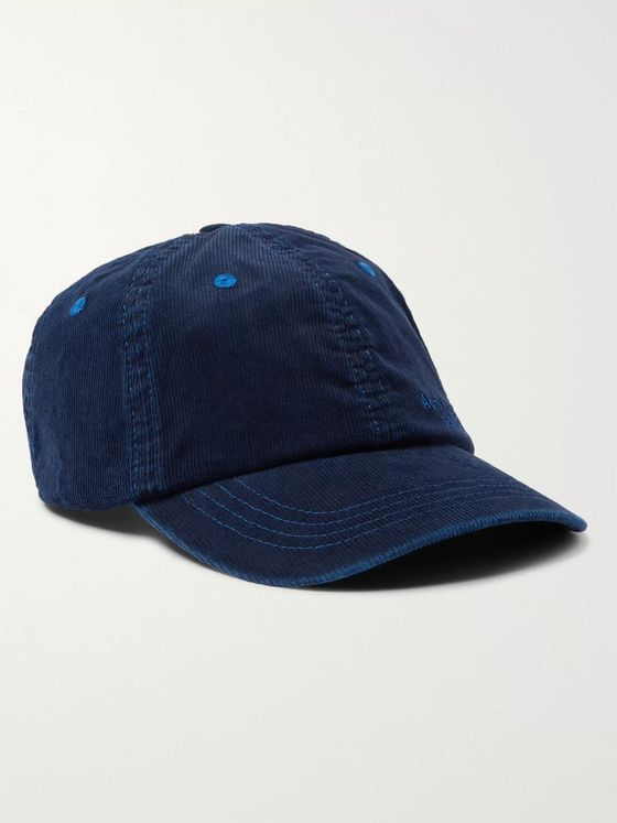 Acne Studios Logo-Embroidered Cotton-Blend Corduroy Baseball Cap