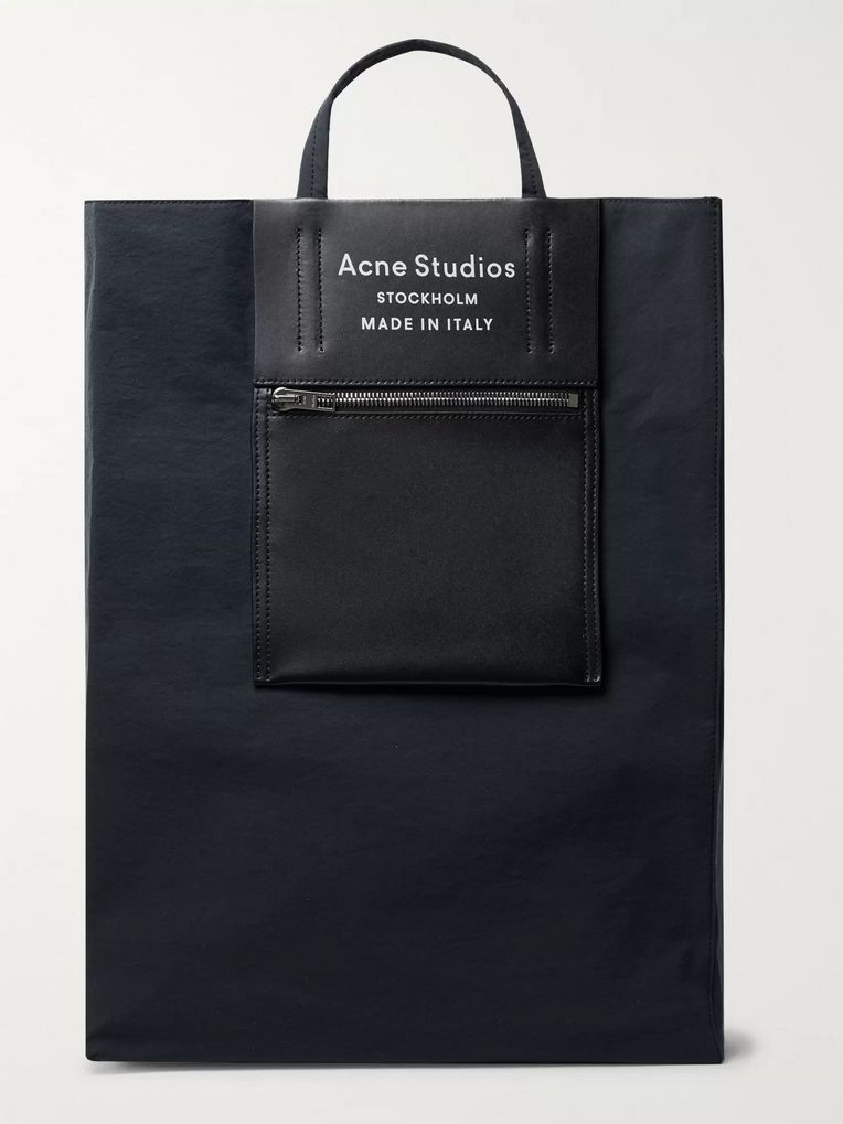 Acne Studios Leather-Trimmed Nylon Tote Bag