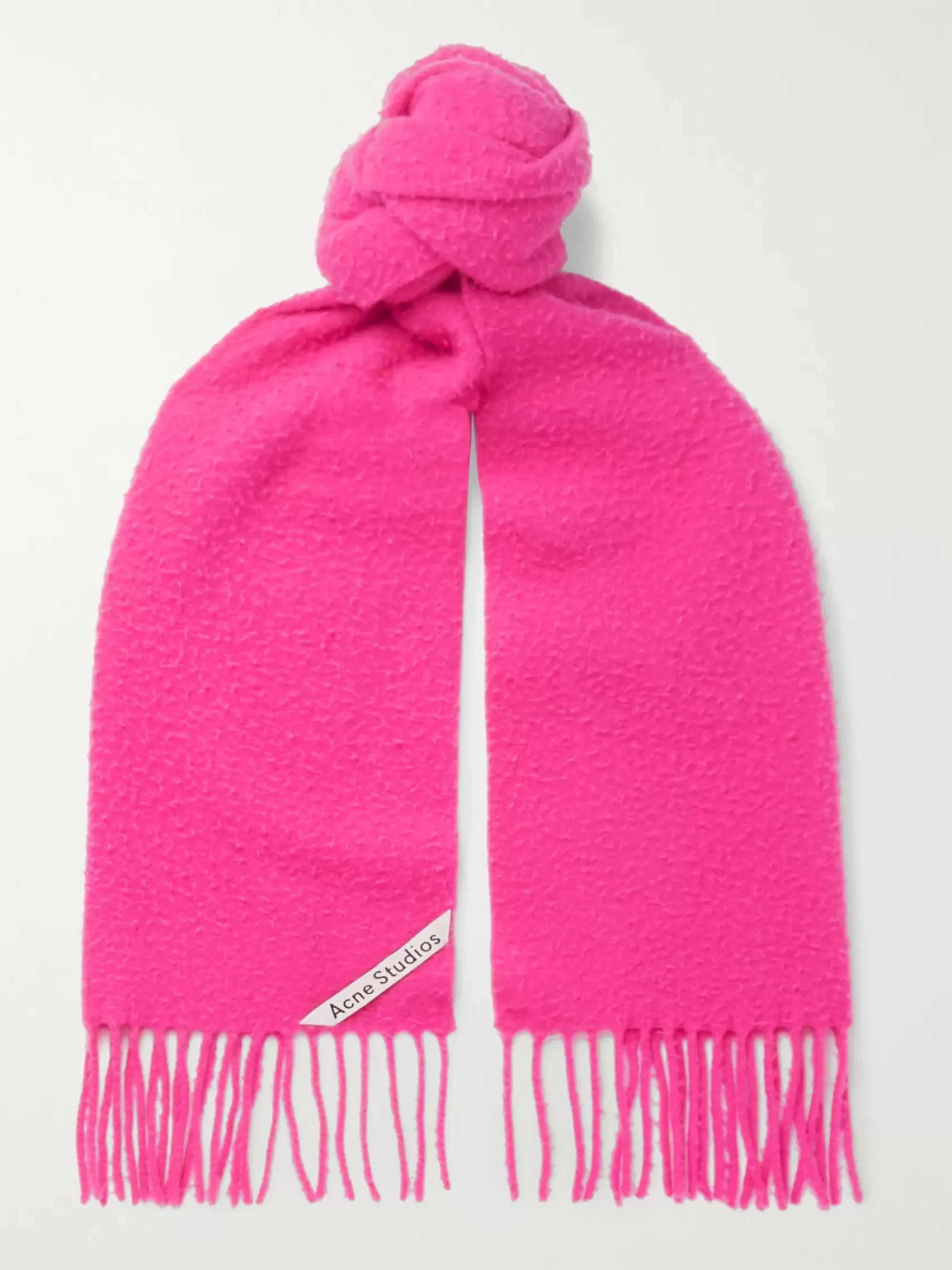 Acne Studios Fringed Boiled-Wool Scarf