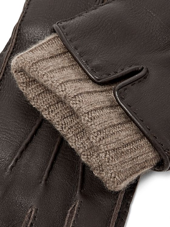 Loro Piana Baby Cashmere-Lined Leather Gloves