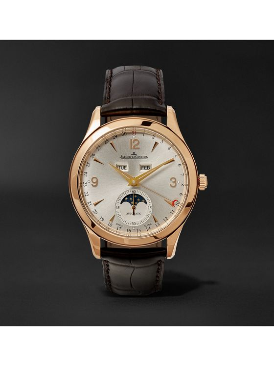 Jaeger-LeCoultre Master Calendar 18-Karat Rose Gold and Alligator Watch, Ref. No. JLQ1368420