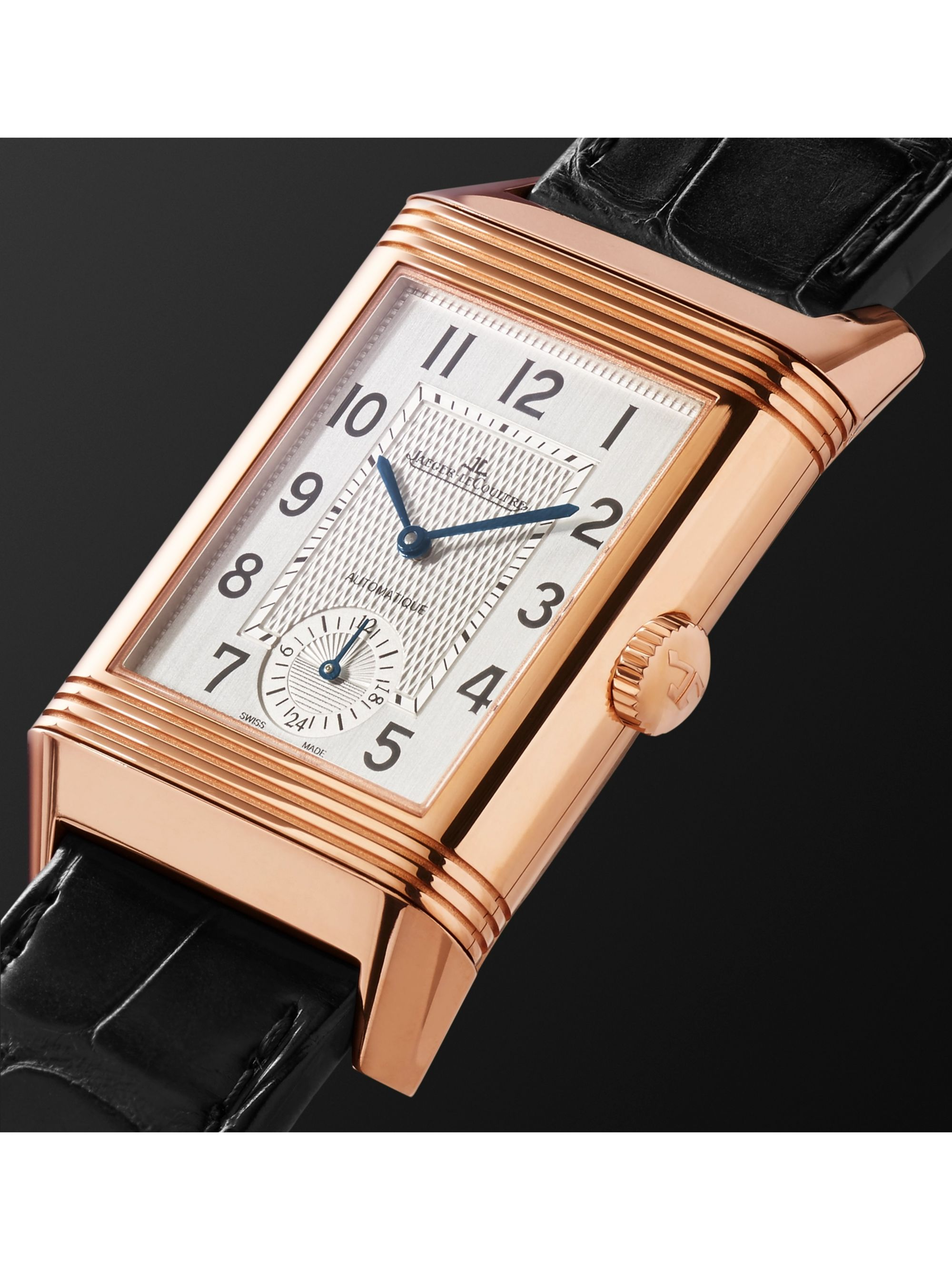 Jaeger-LeCoultre Reverso Classic Large Duoface Small Seconds Automatic 28.3mm Rose Gold and Alligator Watch