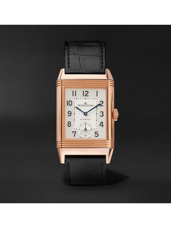 Jaeger-LeCoultre Reverso Classic Large Duoface 28mm 18-Karat Rose Gold and Alligator Watch, Ref. No. Q1368470