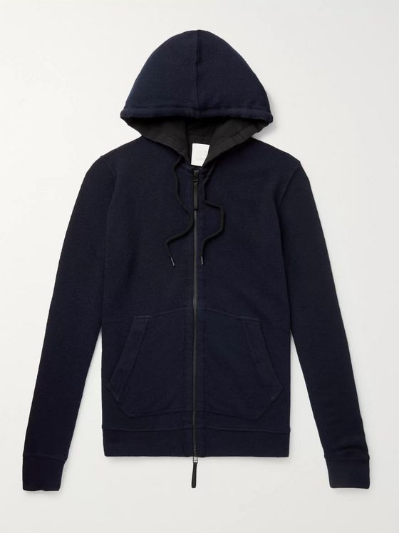 120% Slim-Fit Cashmere, Modal and Wool-Blend Zip-Up Hoodie