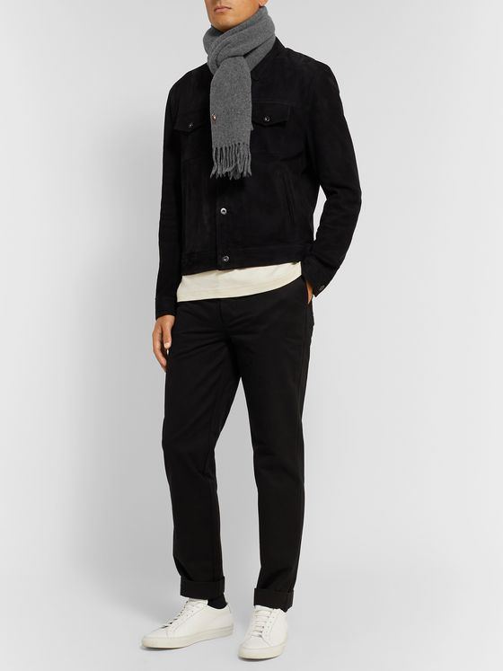 Polo Ralph Lauren Fringed Virgin Wool Scarf