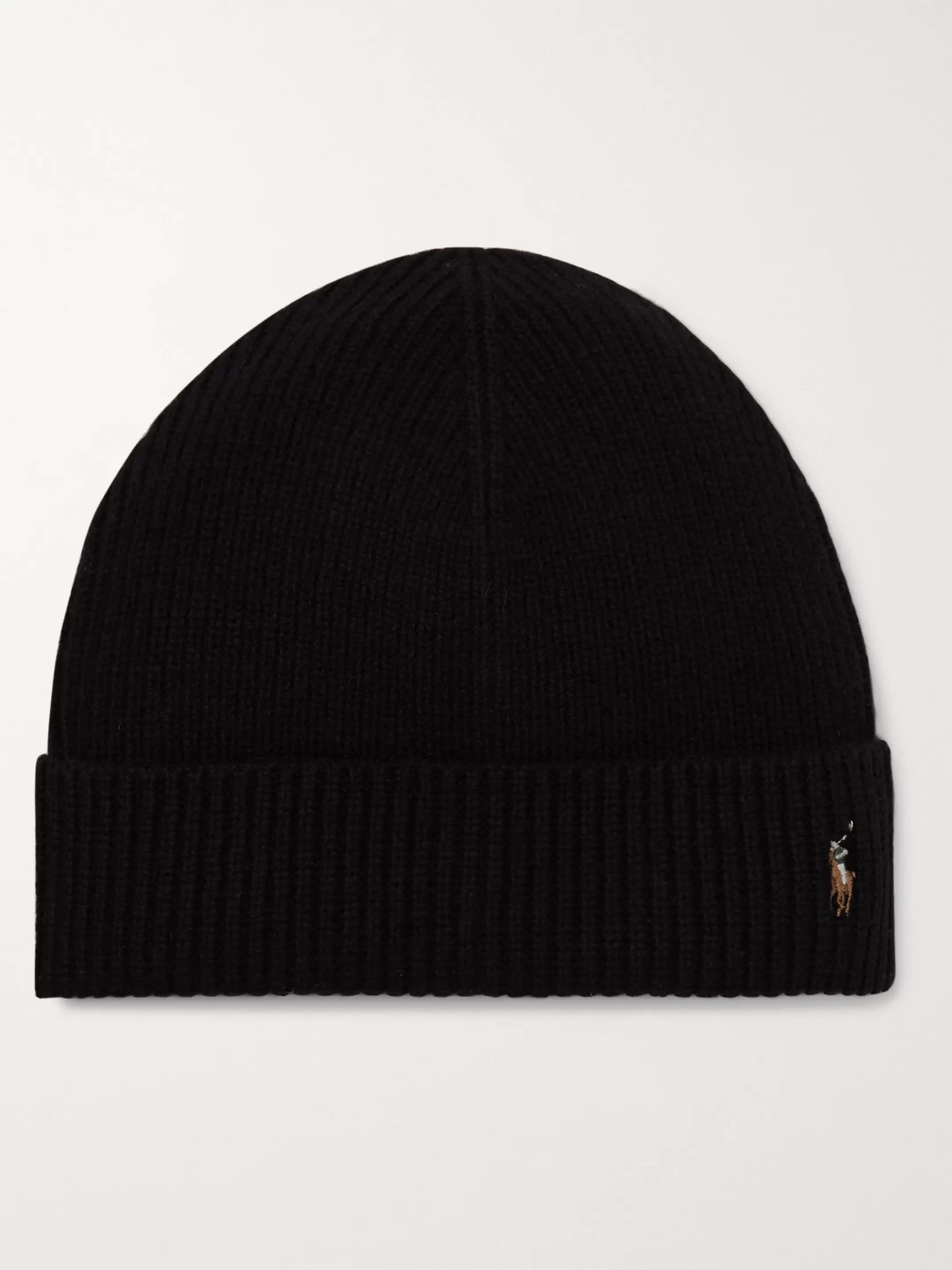 Polo Ralph Lauren Logo-Embroidered Ribbed Merino Wool Beanie