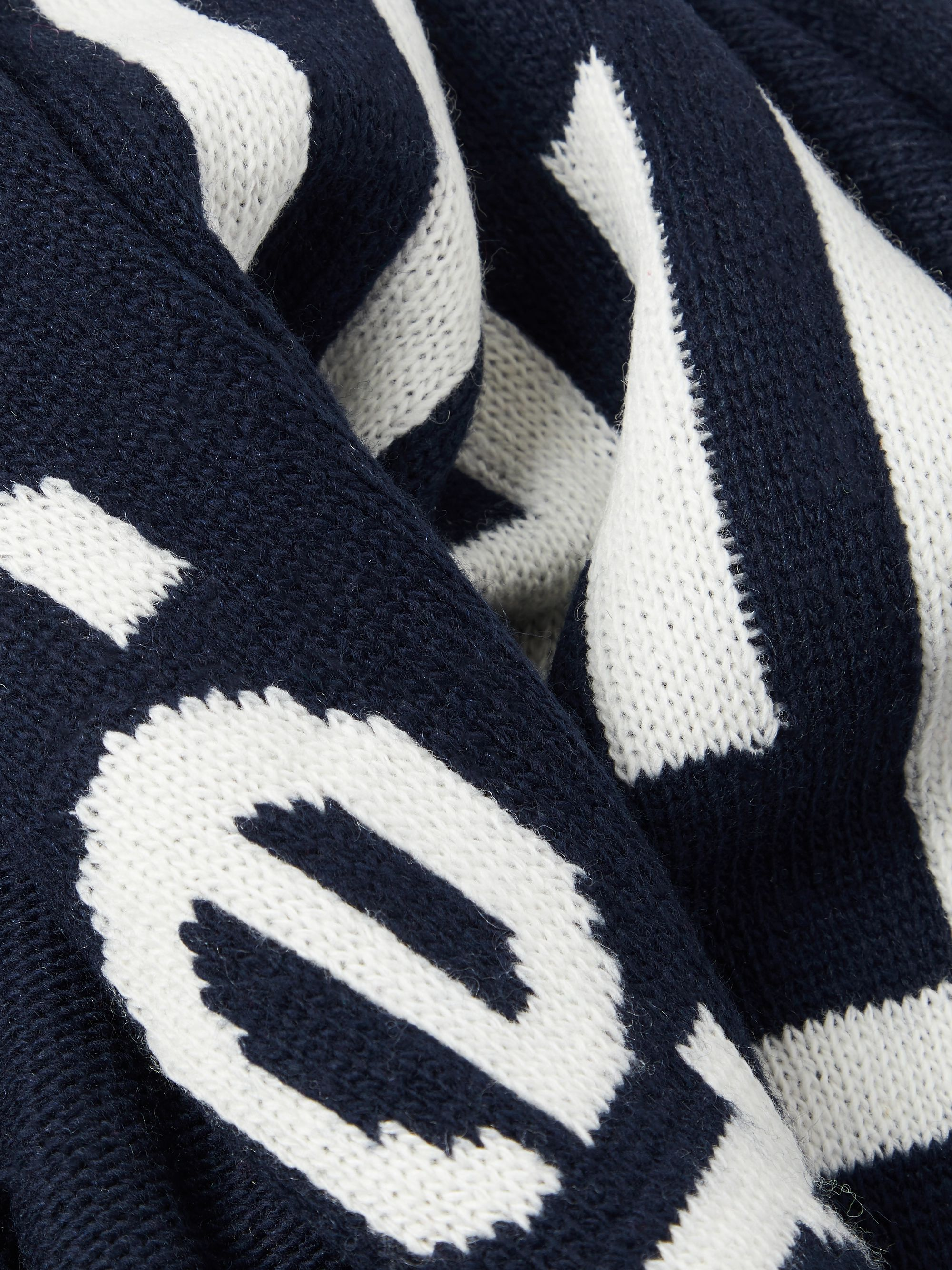 Polo Ralph Lauren Logo-Jacquard Knitted Scarf