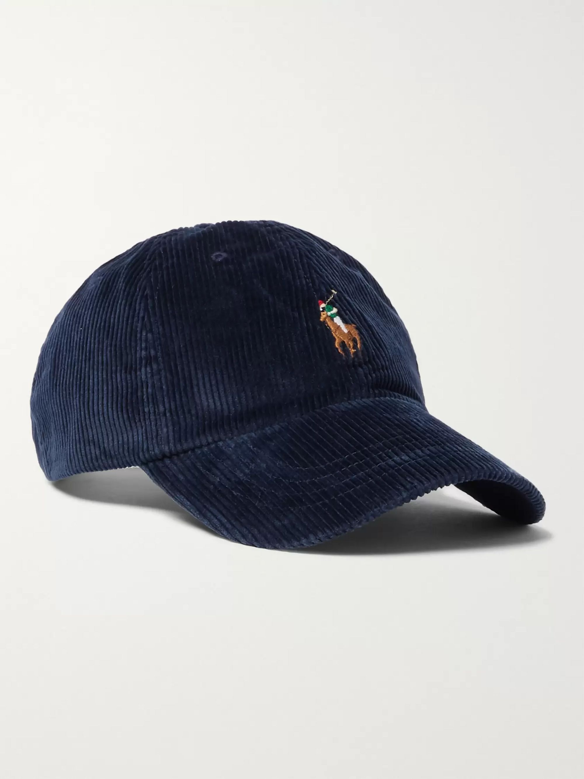 Polo Ralph Lauren Logo-Embroidered Cotton-Blend Corduroy Baseball Cap