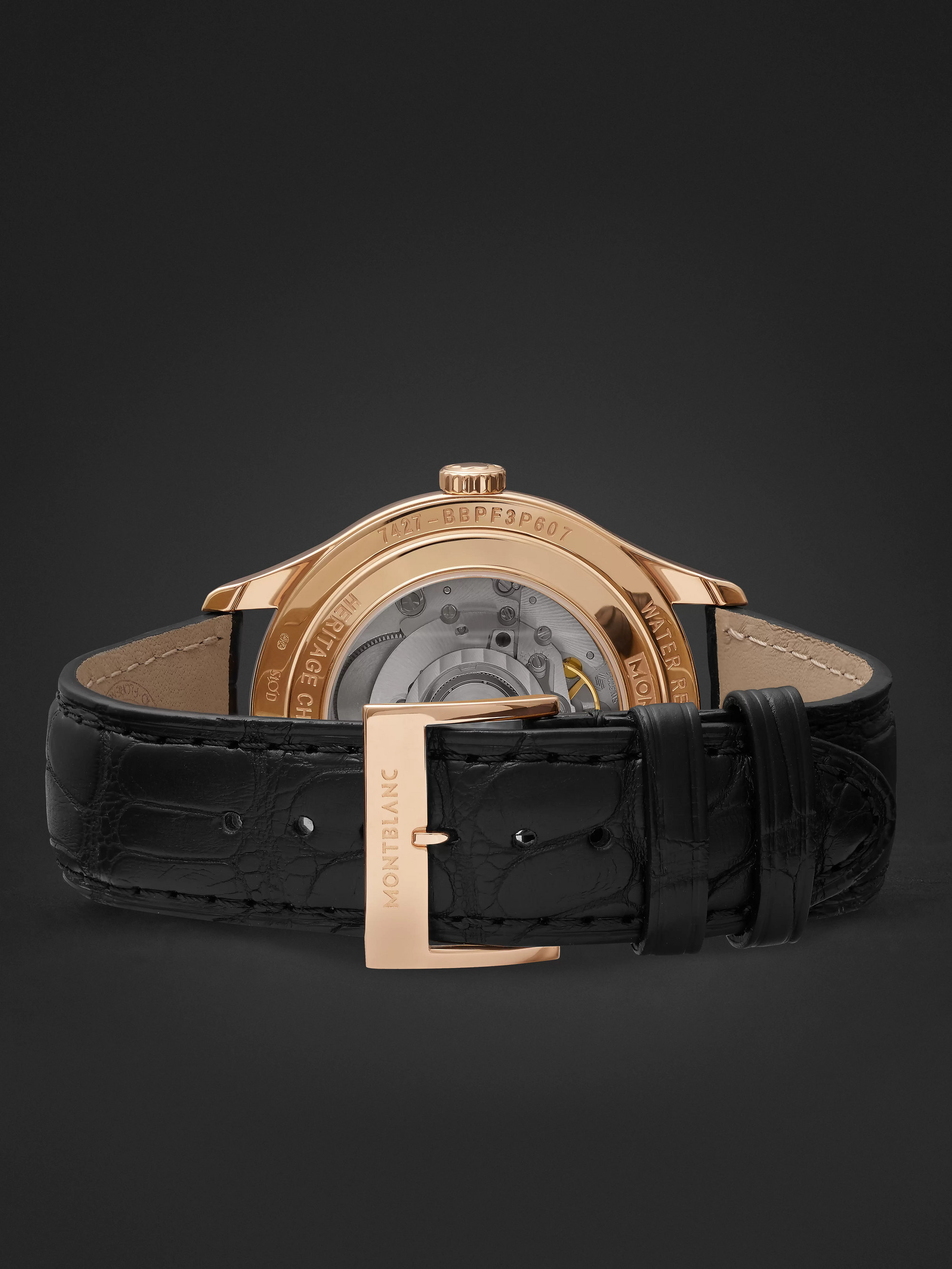 Montblanc Automatic 40mm Red Gold and Alligator Watch