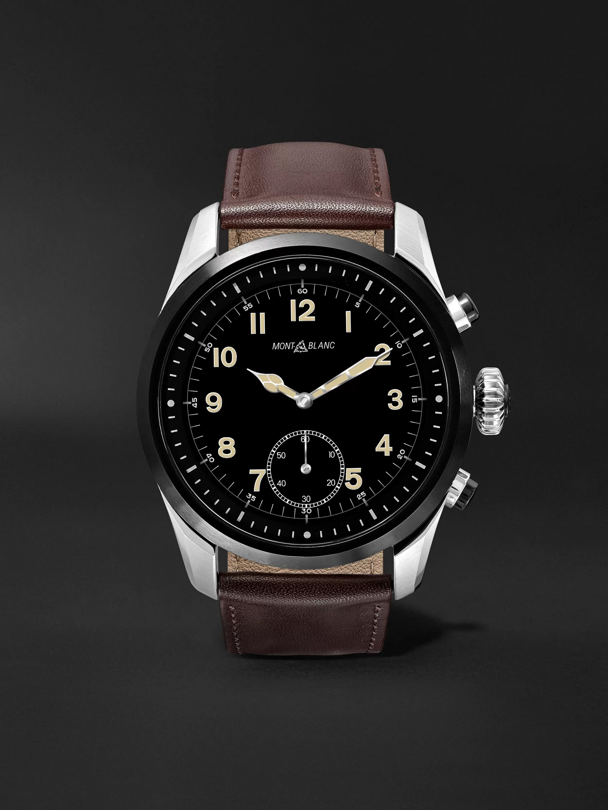 Montblanc Summit 2 42mm Stainless Steel and Leather Smart Watch, Ref. No. 119439