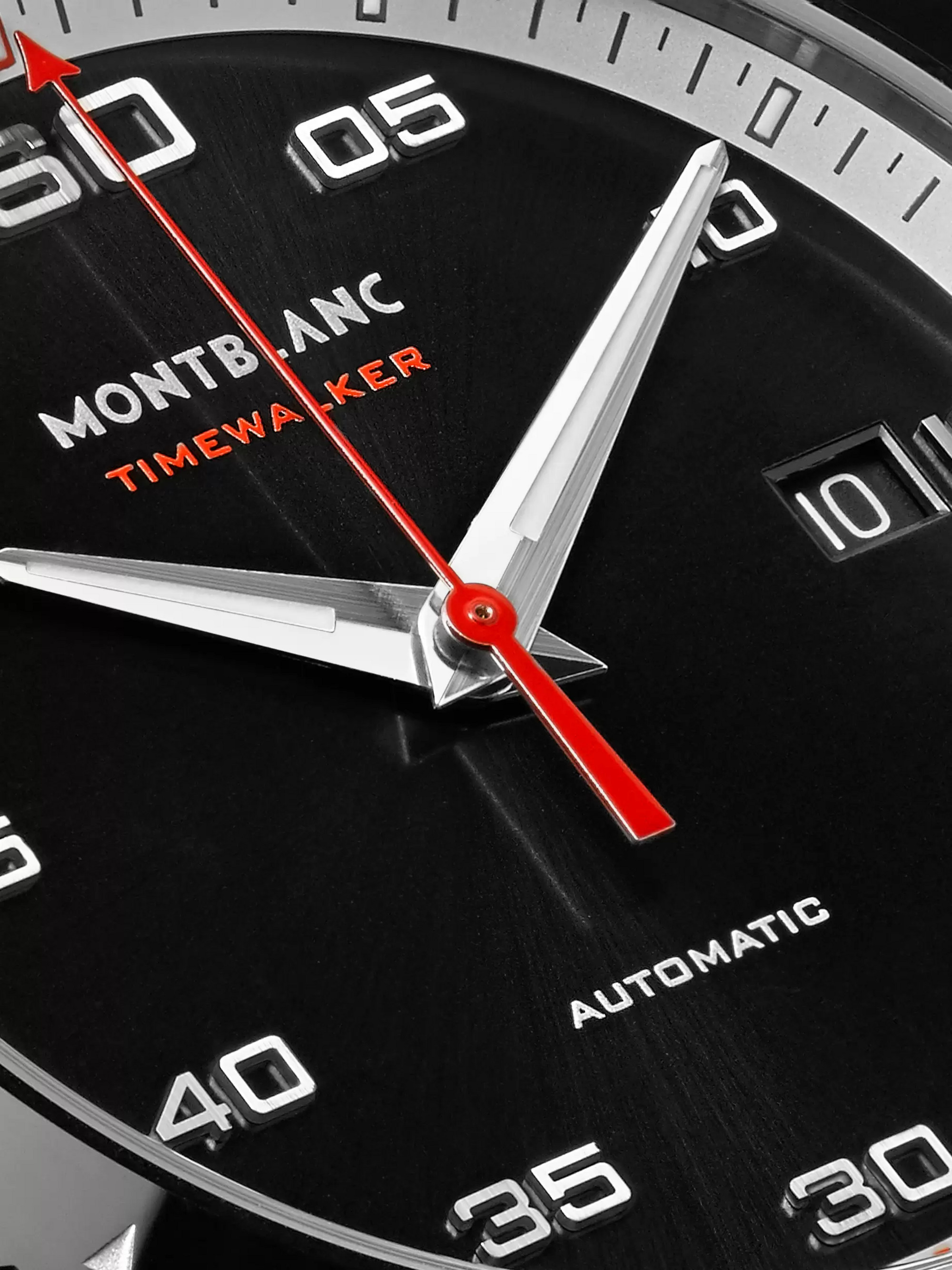 Montblanc TimeWalker Date Automatic 41mm Stainless Steel, Ceramic and Rubber Watch