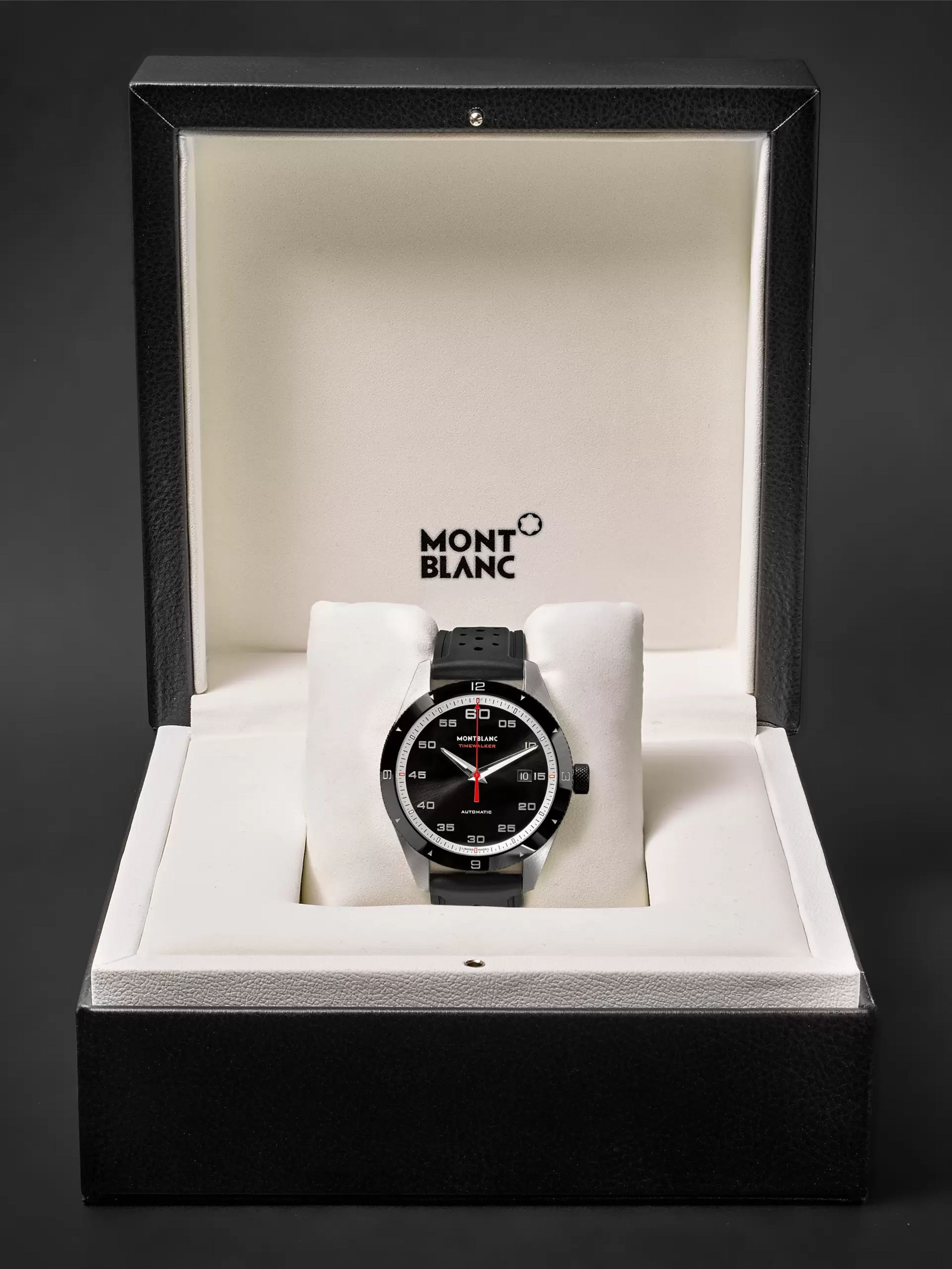 Montblanc TimeWalker Date Automatic 41mm Stainless Steel, Ceramic and Rubber Watch, Ref. No. 116059