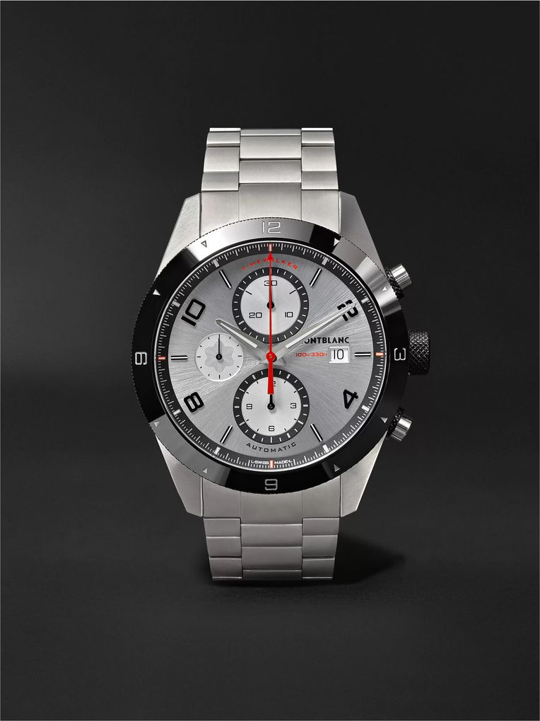 Montblanc TimeWalker Chronograph Automatic 43mm Stainless Steel and Ceramic Watch, Ref. No. 116099