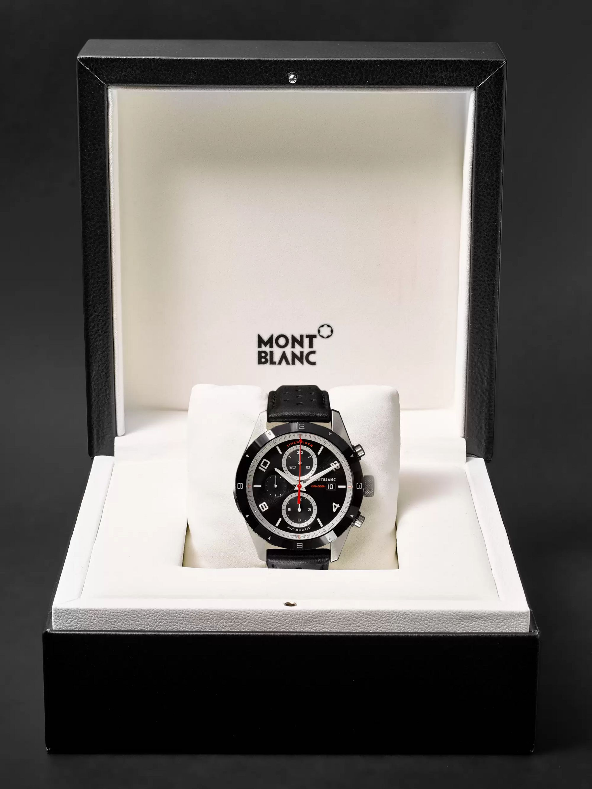 Montblanc TimeWalker Automatic Chronograph 43mm Stainless Steel, Ceramic and Leather Watch, Ref. No. 116098