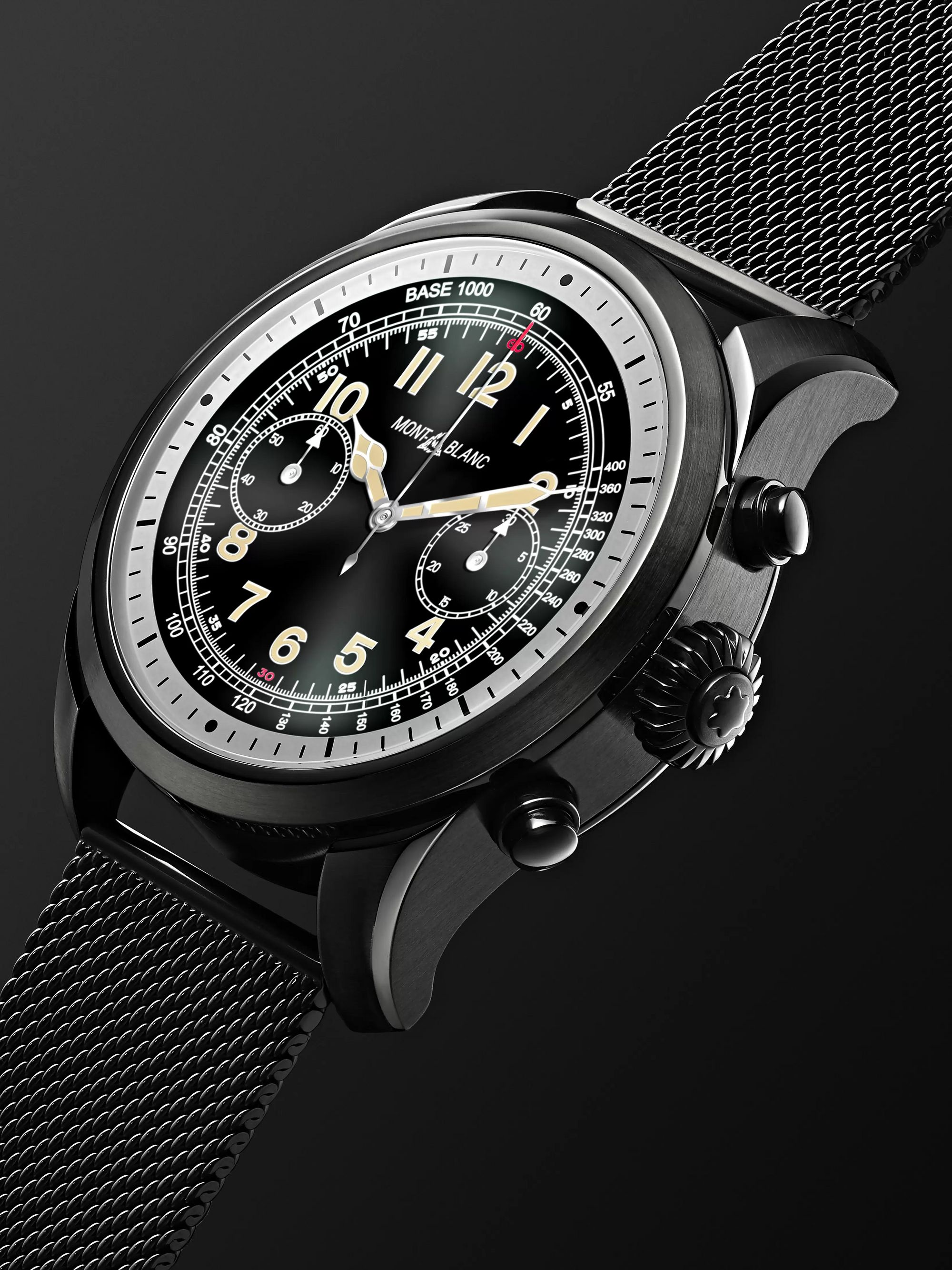 Montblanc Summit 2 42mm DLC-Coated Stainless Steel Smart Watch, Ref. No. 119723