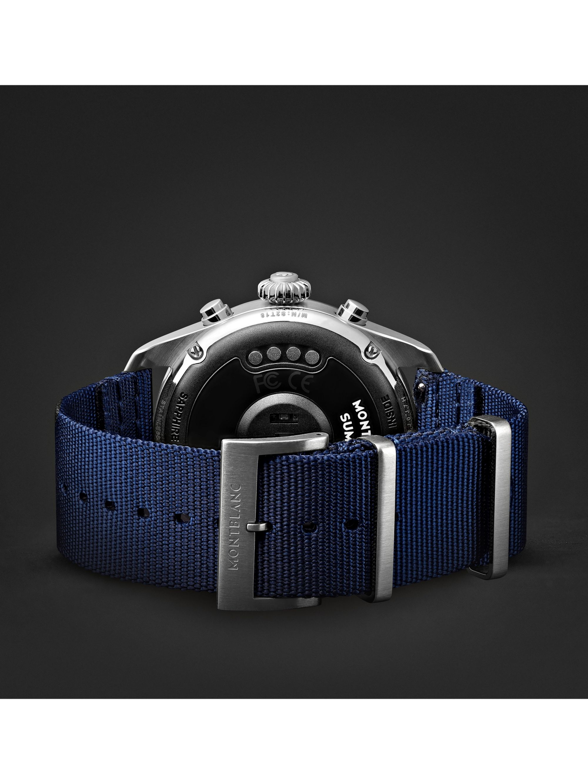 Montblanc Summit 42mm Stainless Steel and Nylon Smart Watch, Ref. No. 119561