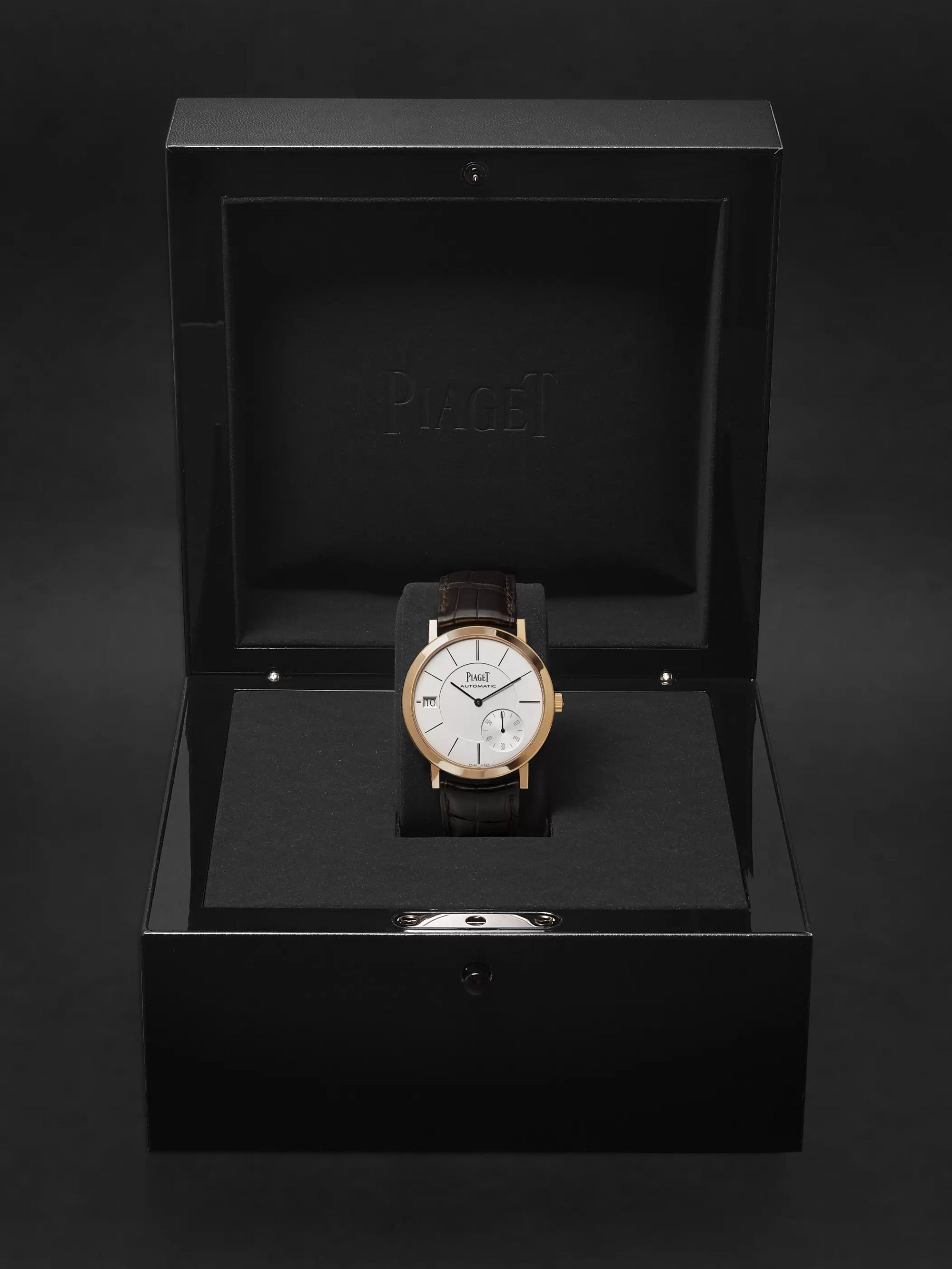 Piaget Altiplano Automatic 40mm 18-Karat Rose Gold and Alligator Watch, Ref. No. G0A38131