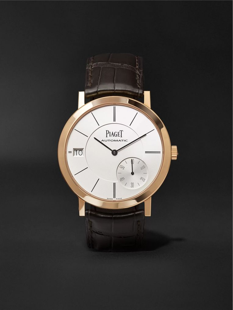 Piaget Altiplano 40mm 18-Karat Rose Gold and Alligator Watch, Ref. No. G0A38131